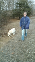 Simi loves her walks!