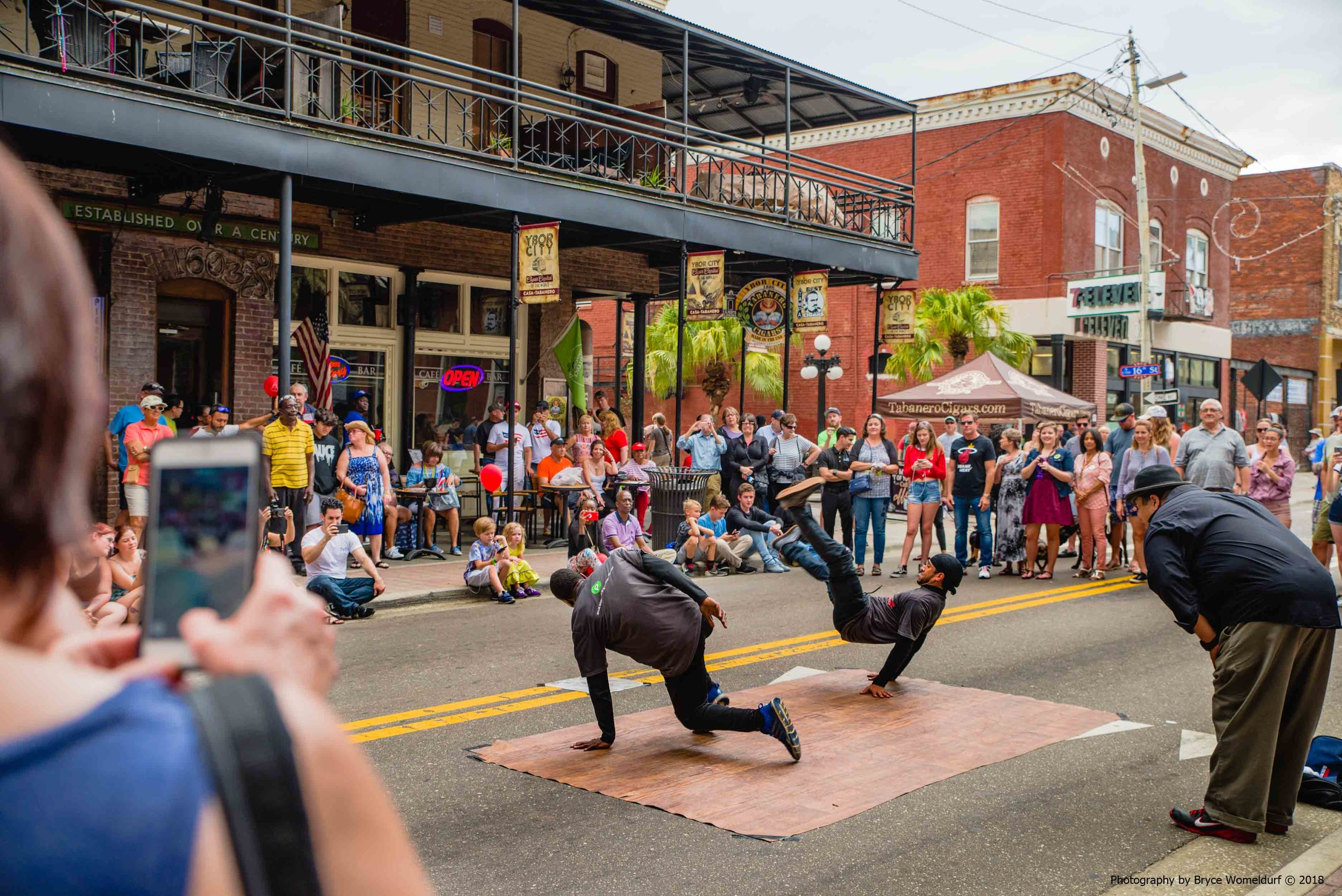 Breakdancing in the streets | Ybor City, Florida