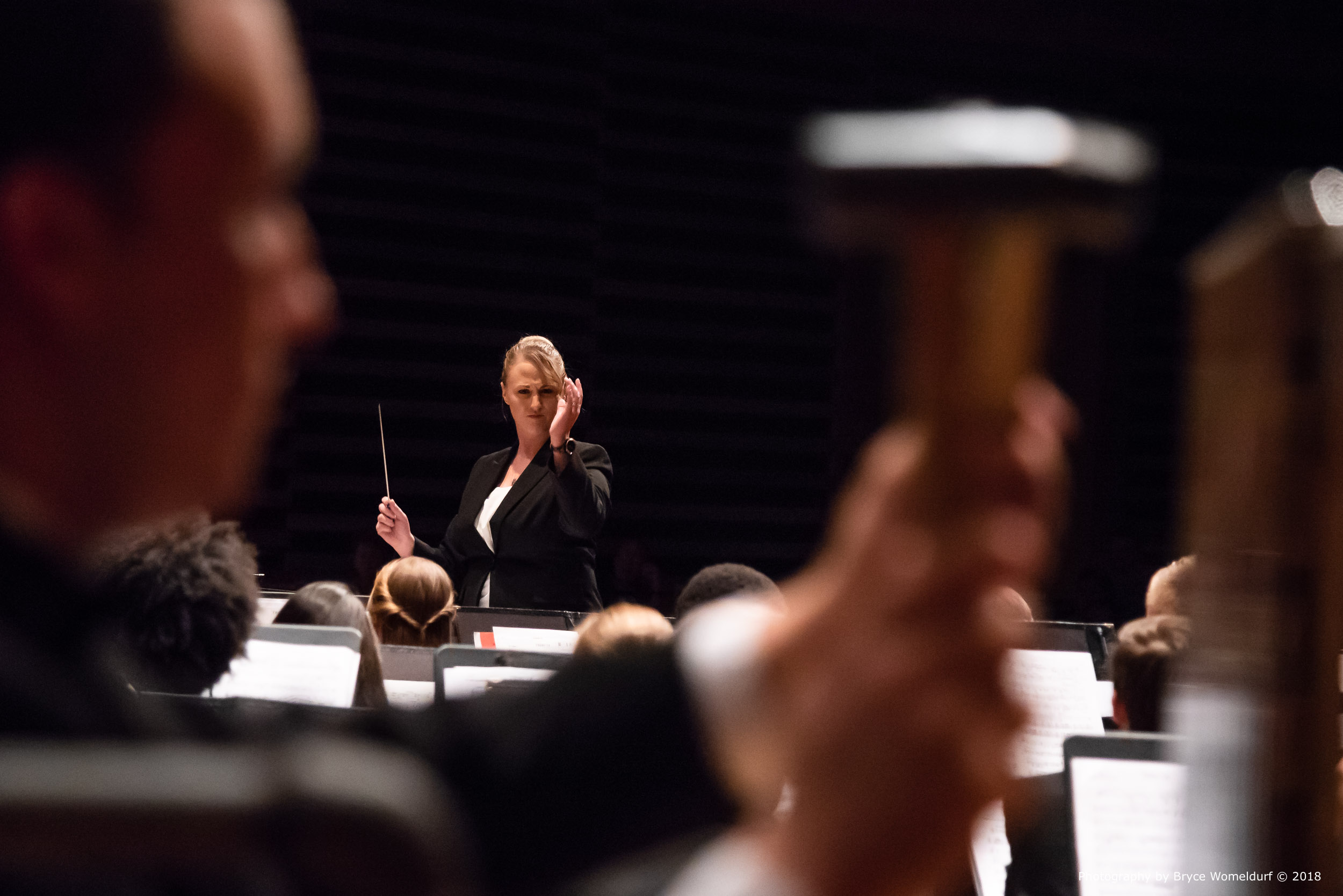 Lauren Gates conducting , 2018