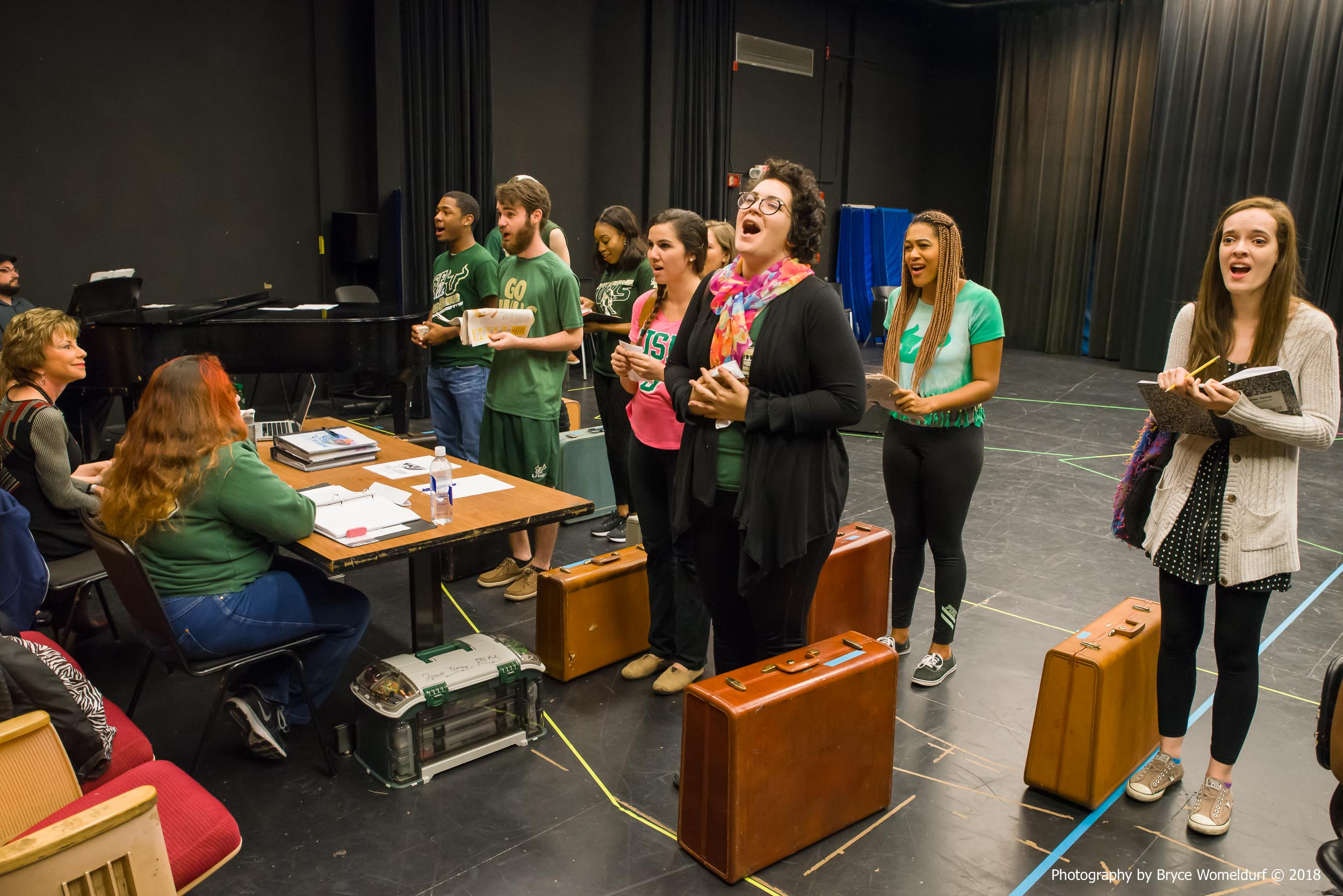 University of South Florida president Judy Genshaft visits USF School of Theatre & Dance