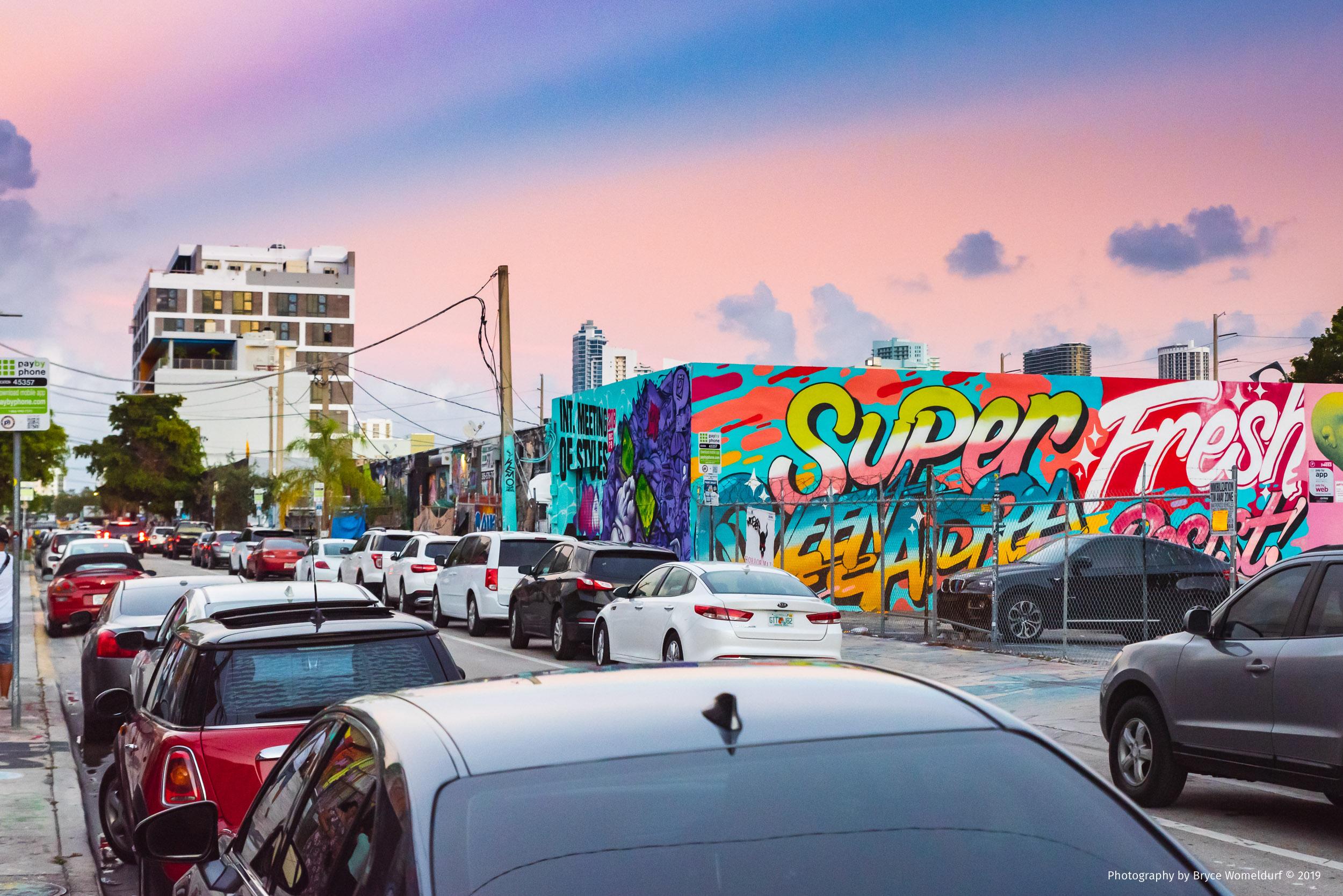 """""""Super Fresh"""" mural in Wynwood, Miami, 2018"""