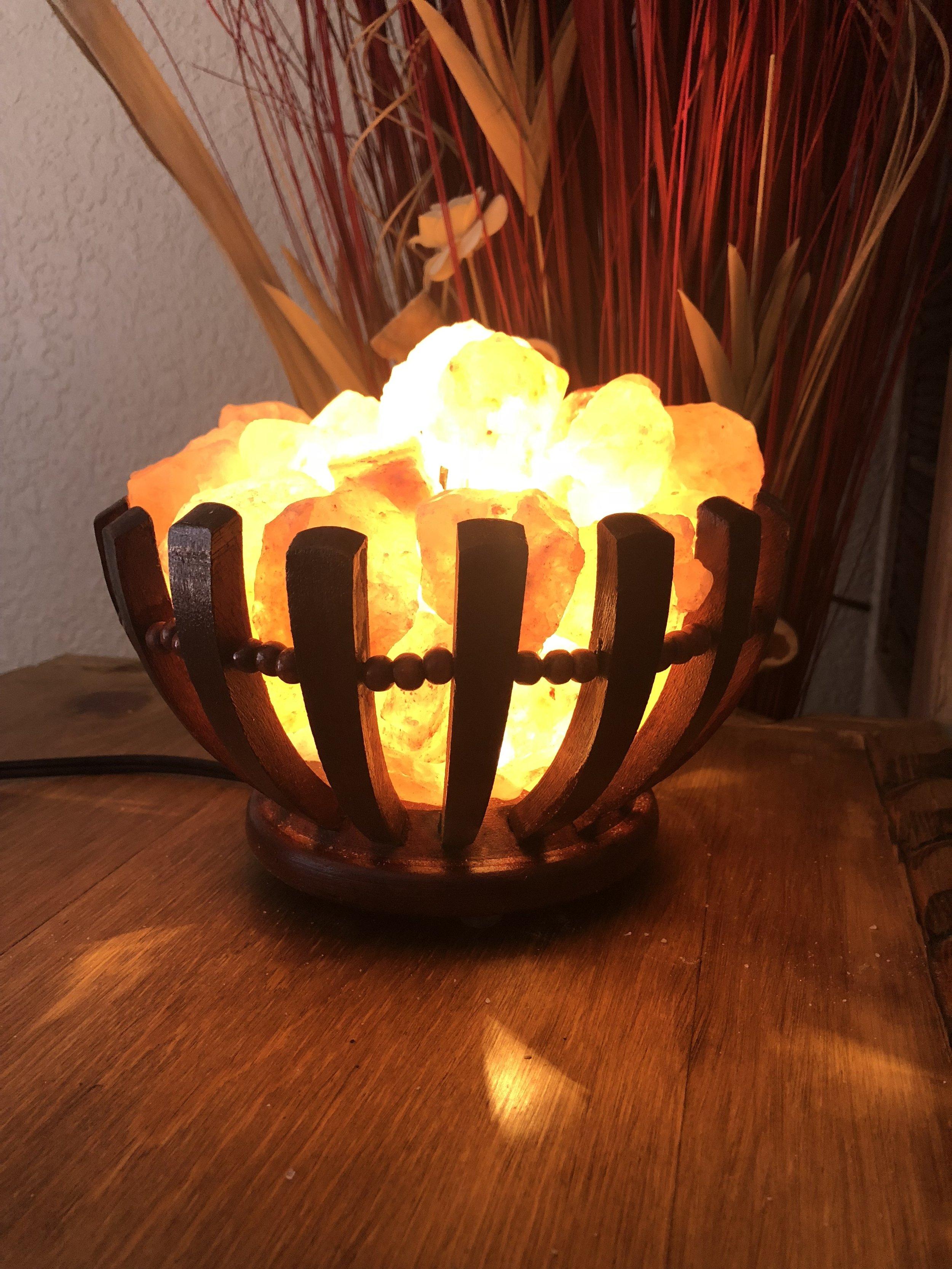 Himalayan Salt Lamp (Chunk Basket)