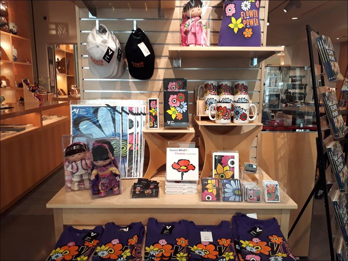 Merchandise in the AAM bookstore.