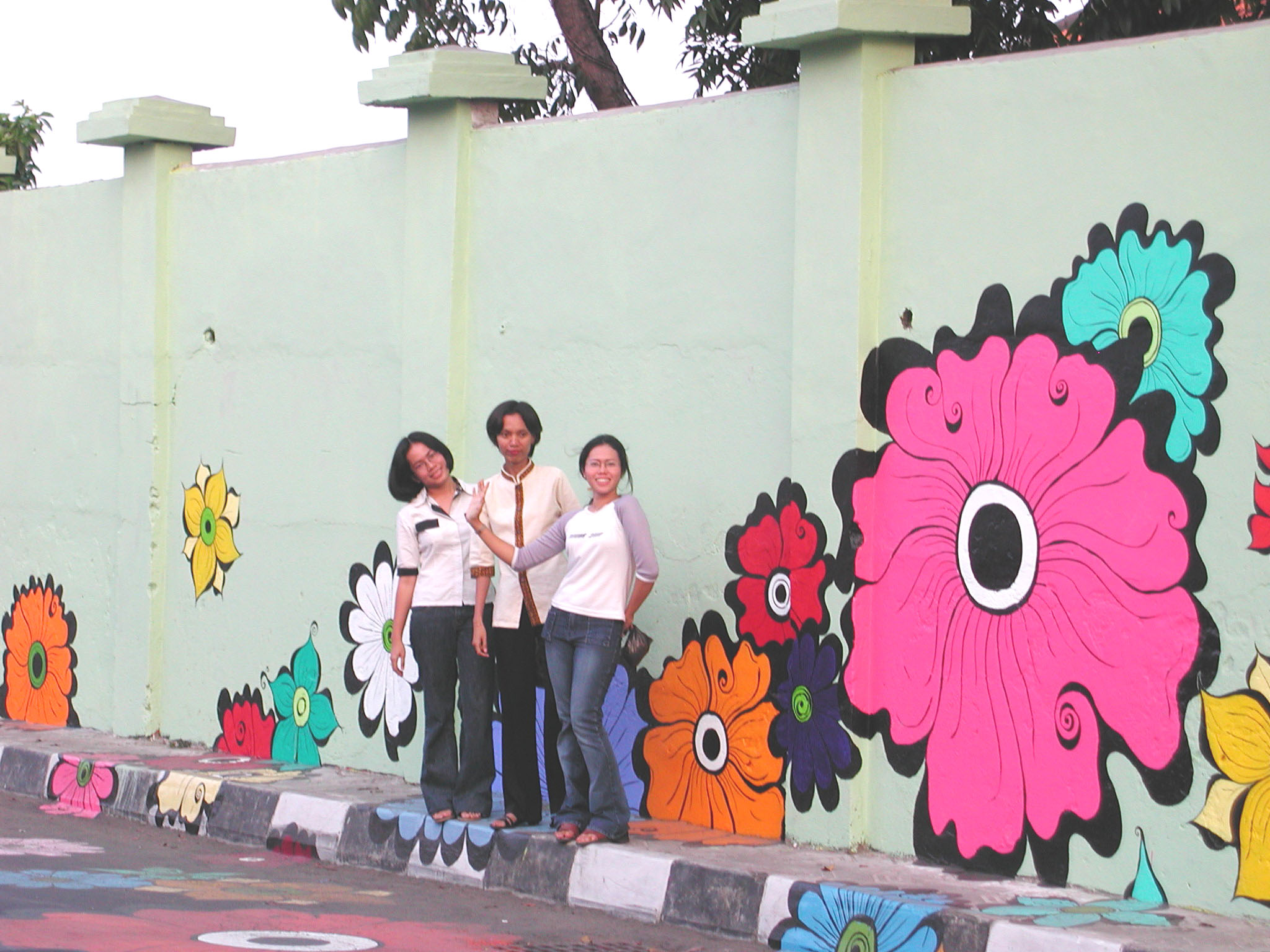 Megan -- Etta and friends in front of mural.jpg