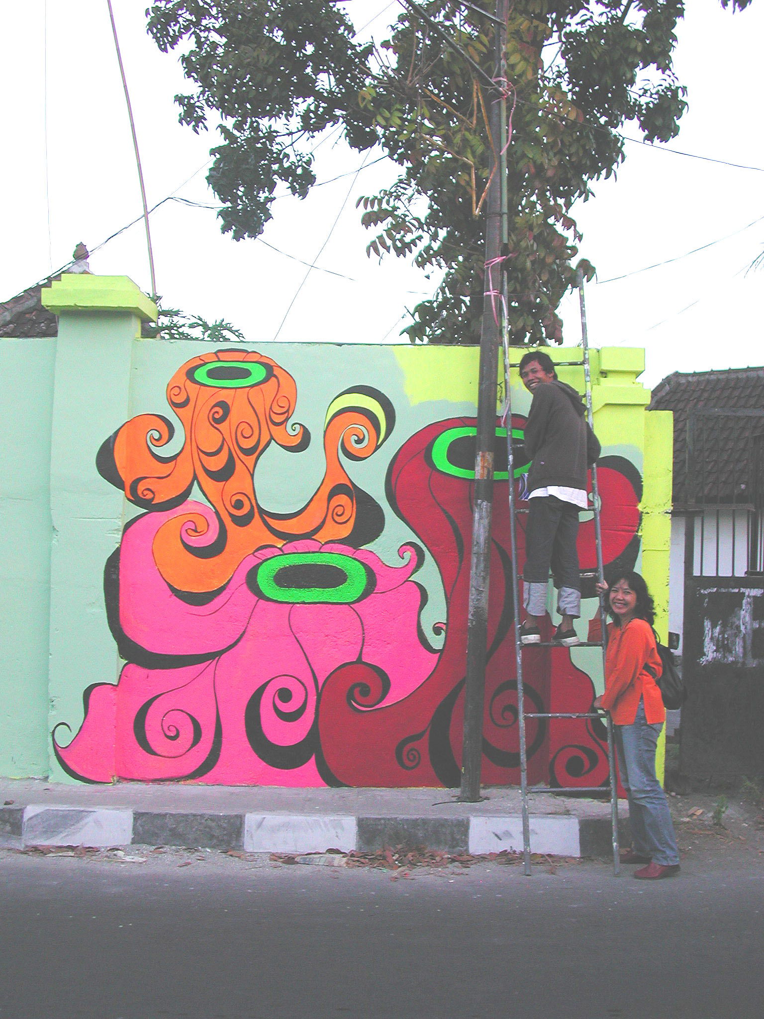 Megan first mural with Farhan & Ade.jpg