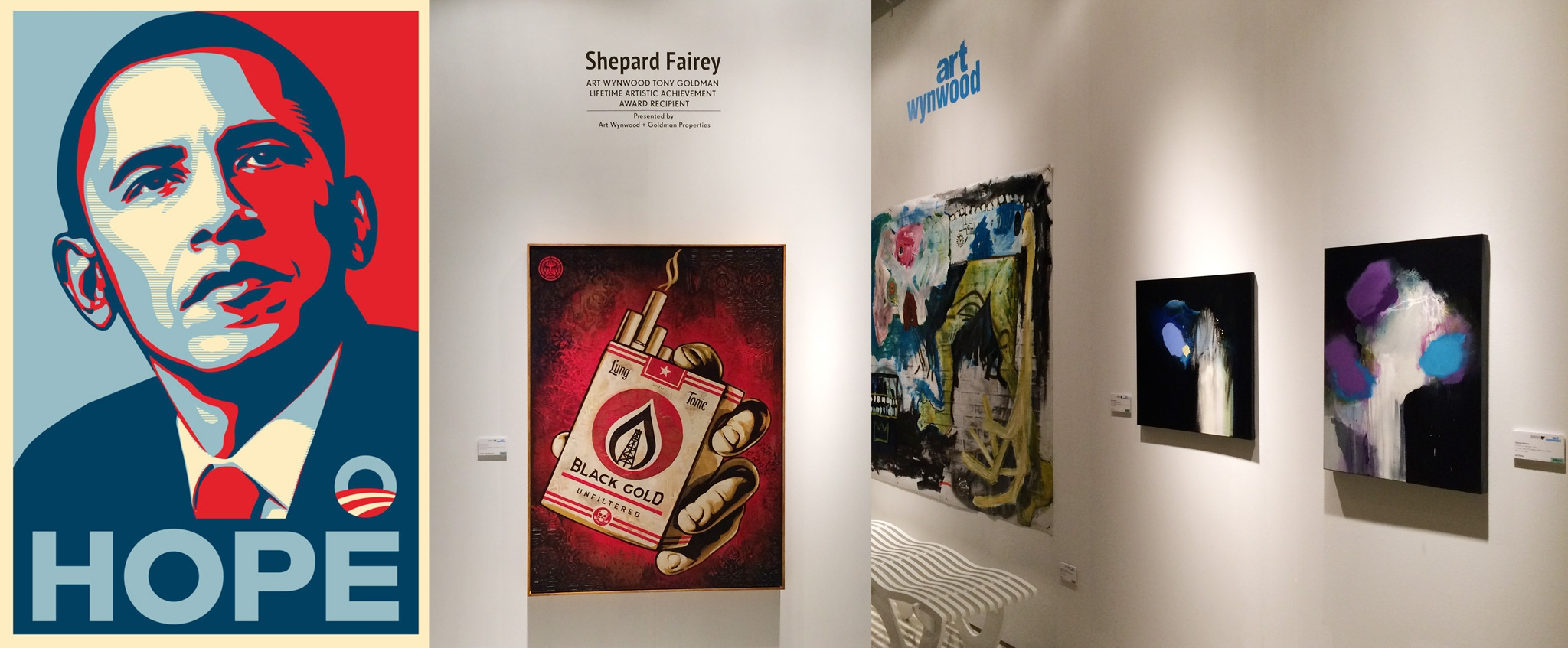 In good company with Shephard Fairey (Obey Giant) & David Ramirez Gomez