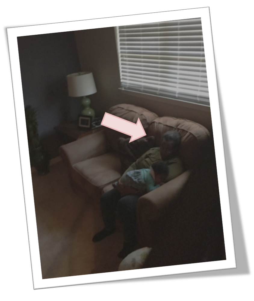 "CAUGHT! - Check out the older nanny that I caught snoozing on the job WITH Bella in her lap - SMH. I snapped this picture and text my husband, ""shes done!"". I was so bothered by this…"