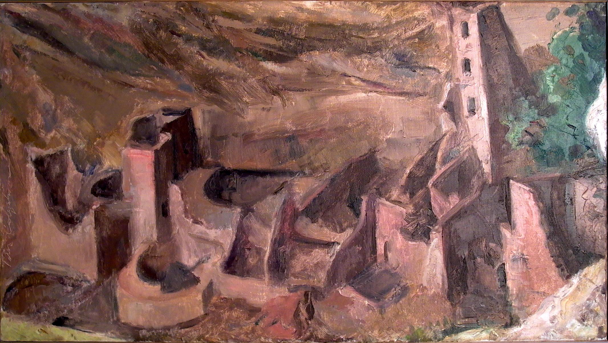 """Mesa Verde, 16"""" x 28"""", oil on linen"""
