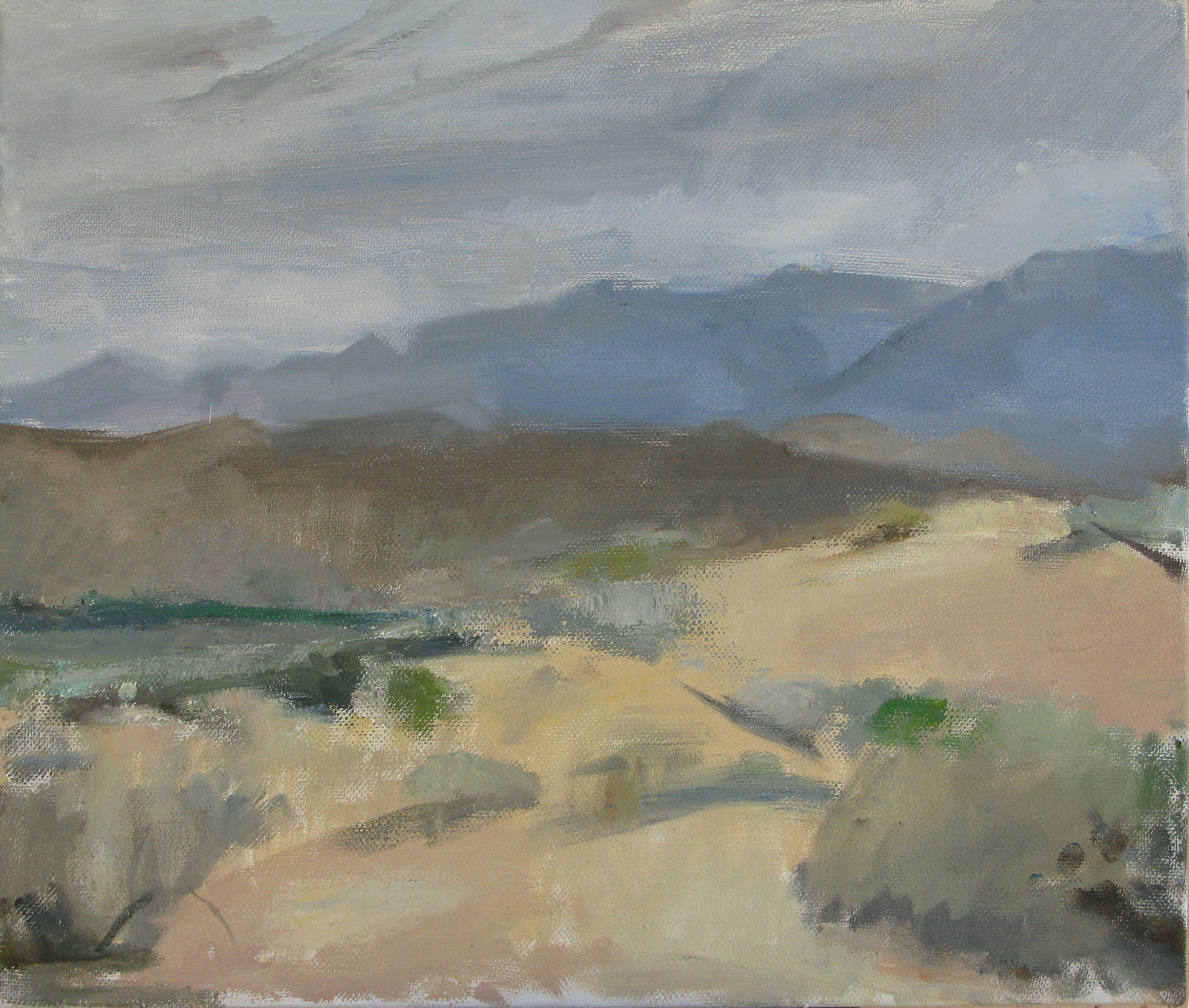 "Off Ed Powers Rd, Near 395, 21"" x 24"", oil on linen"