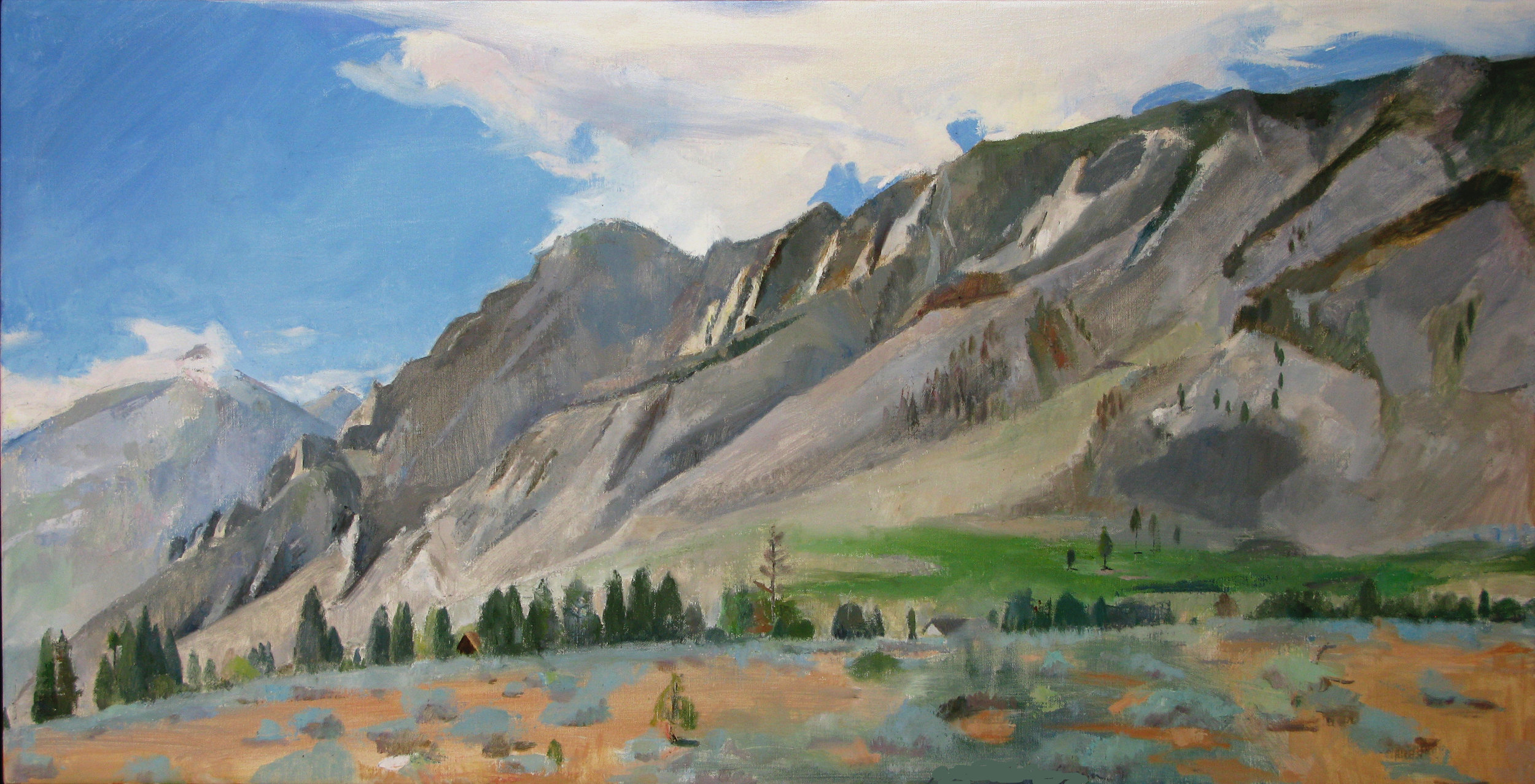 "Swall Meadows, 24"" x 48"", oil on linen"