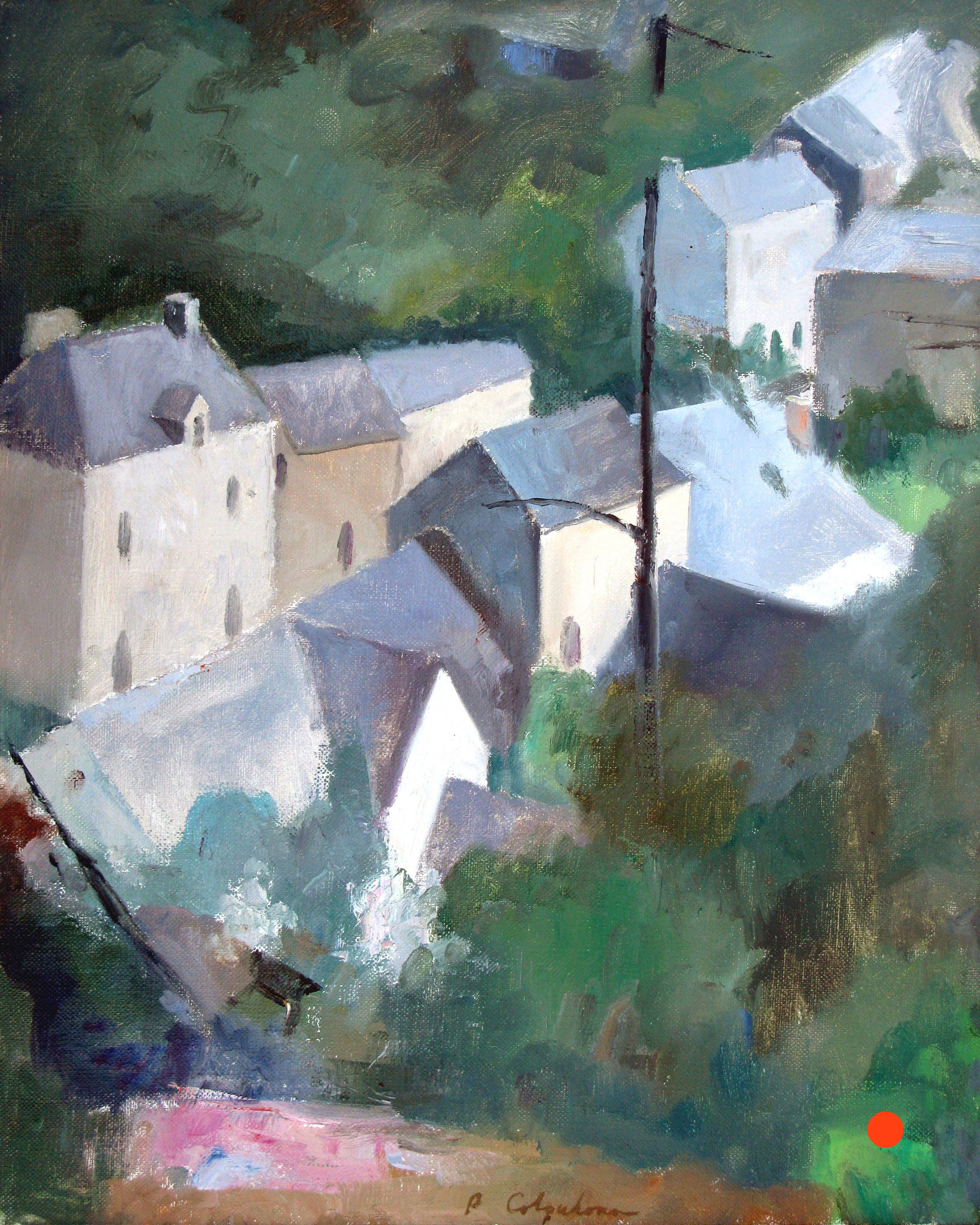 "Vieux Bourg, 16"" x 20"", oil on linen"