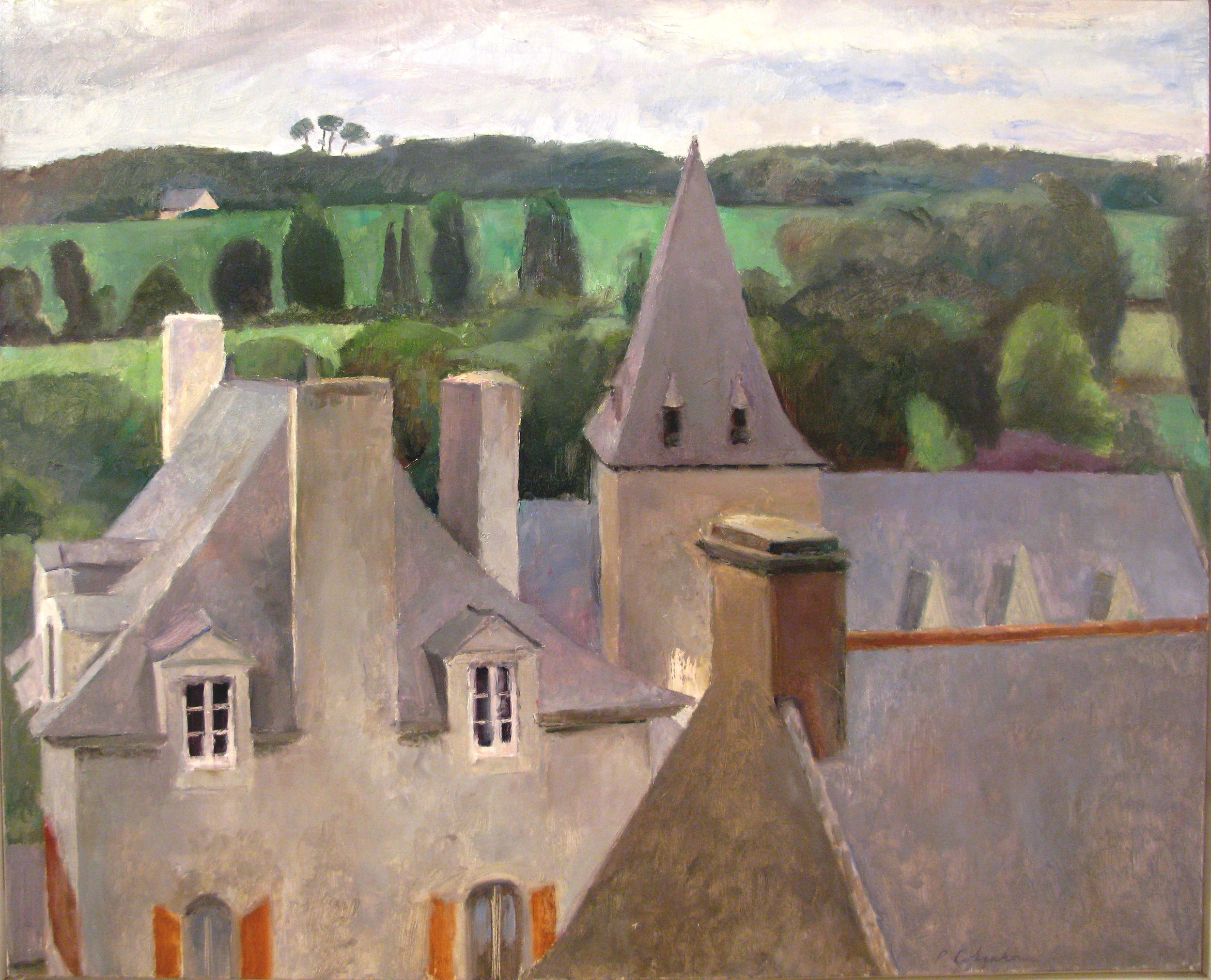 "View from the Pavillion, Rochefort, 25"" x 31"", oil on linen"