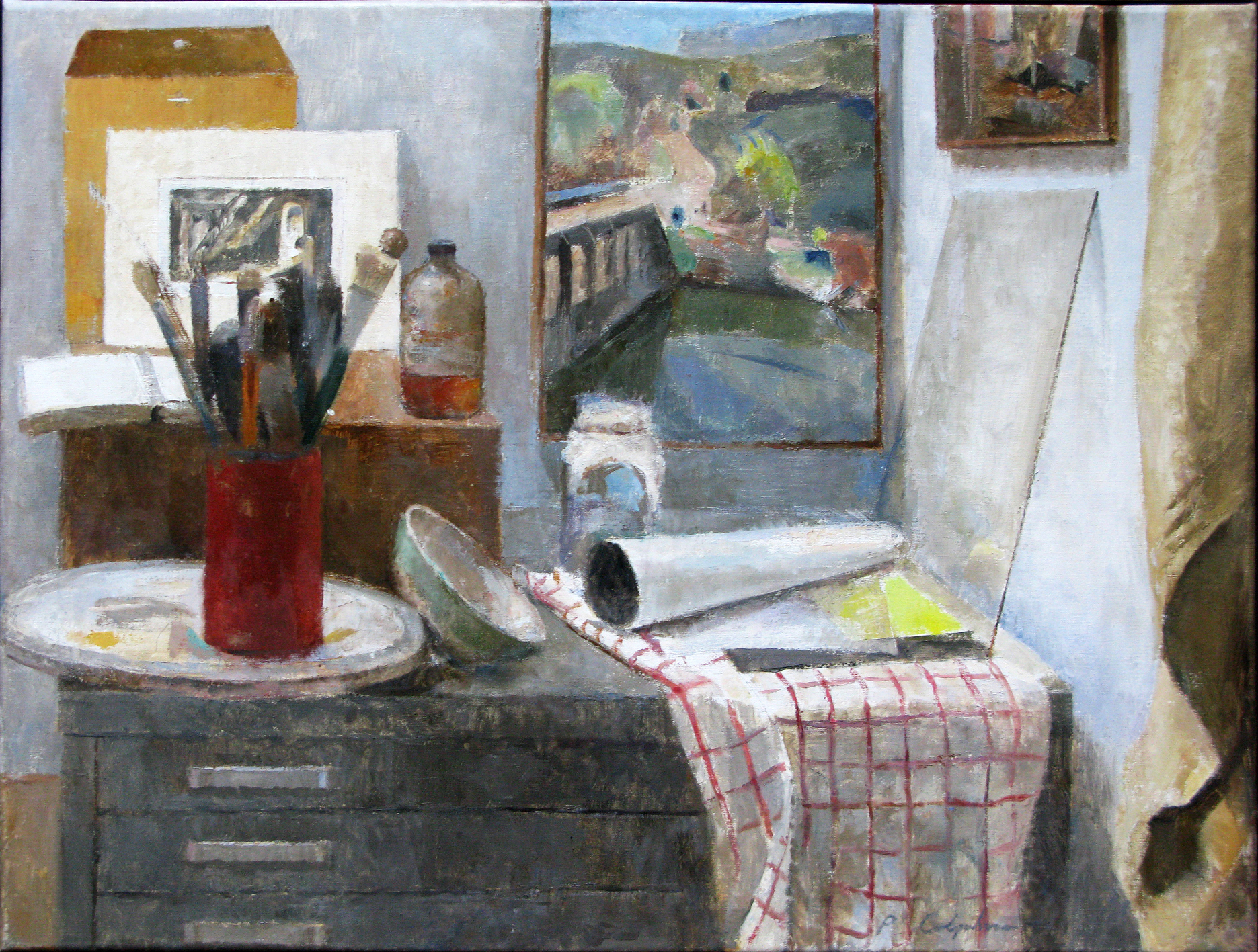 "Corner of the Studio, 31"" x 41"", oil on linen"