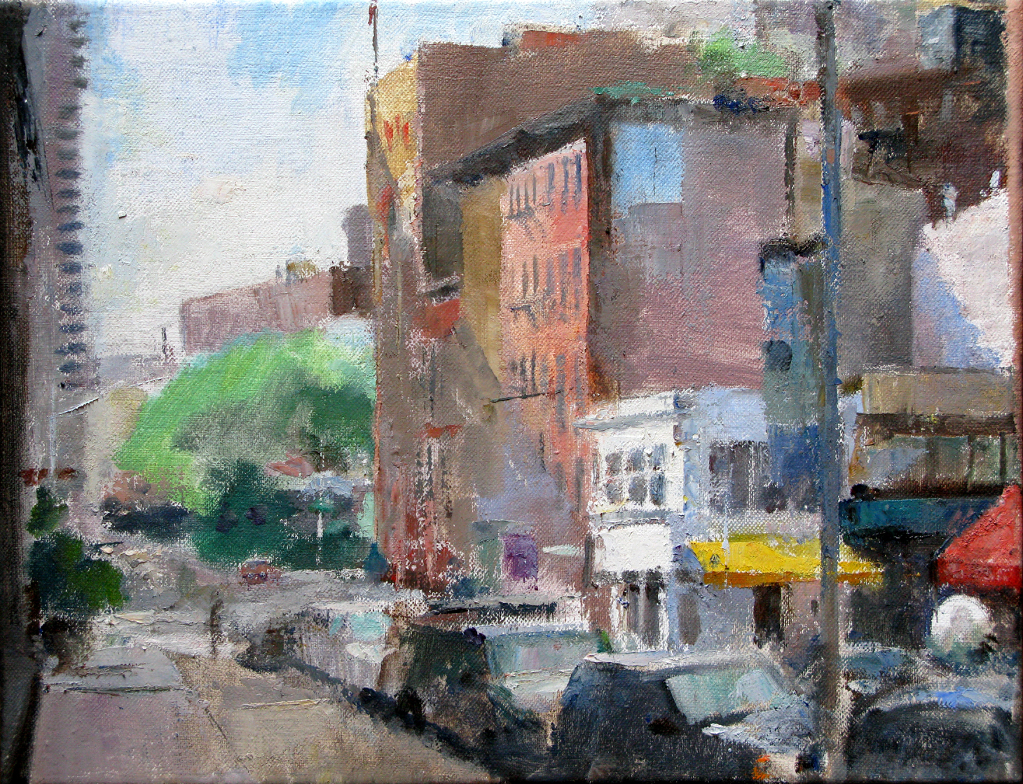 Duane Street at West Broadway, 13 x 17 inches, oil on linen