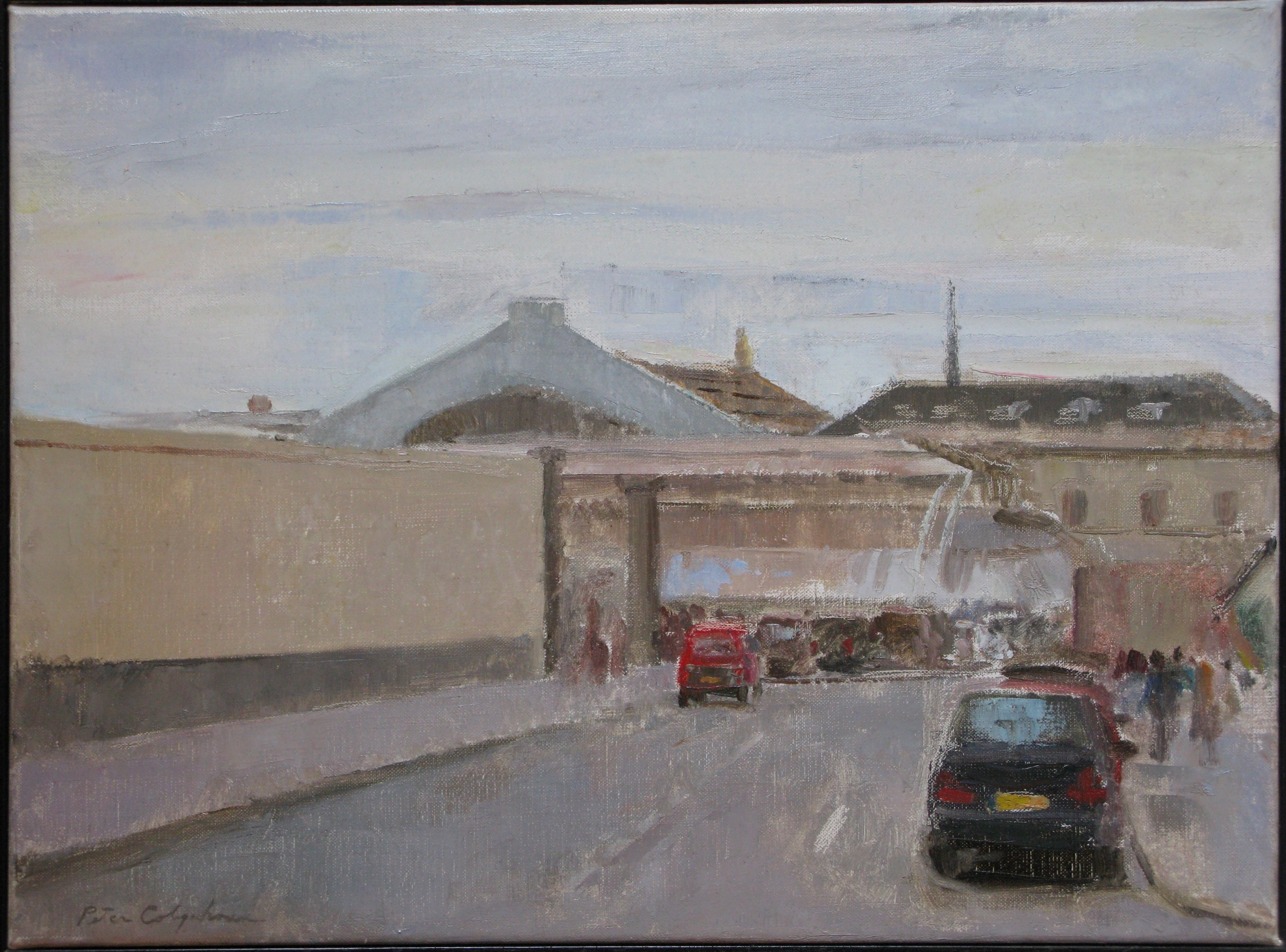 "Gare de l'Est, 12"" x 17"", oil on linen"