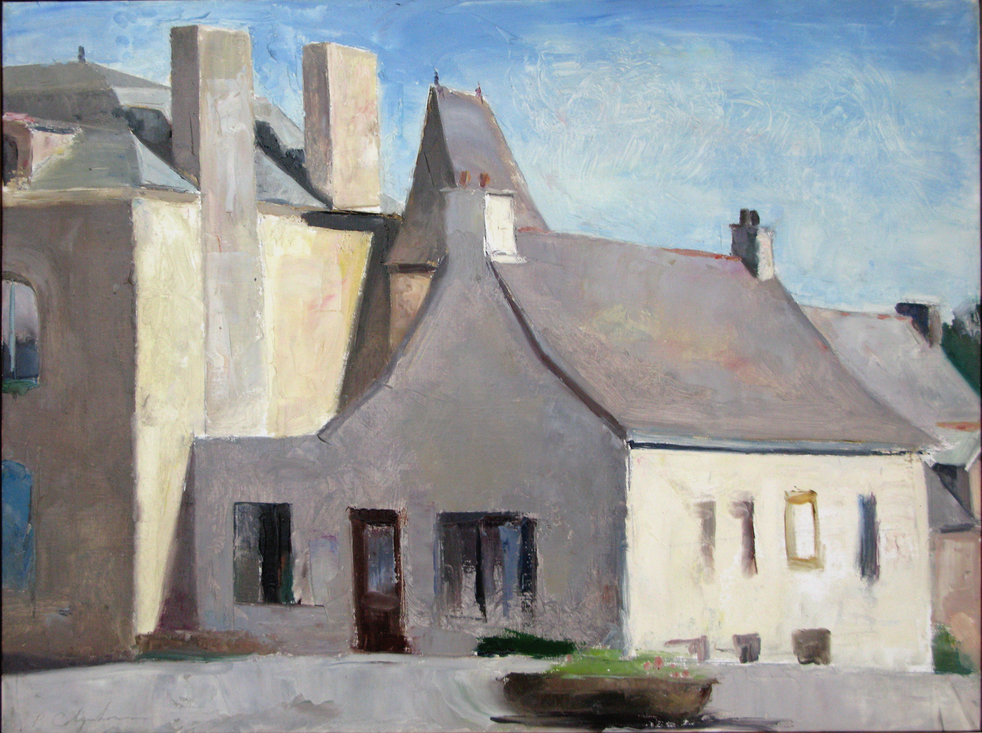 "Near the Mairie, 18"" x 24"", oil on linen"