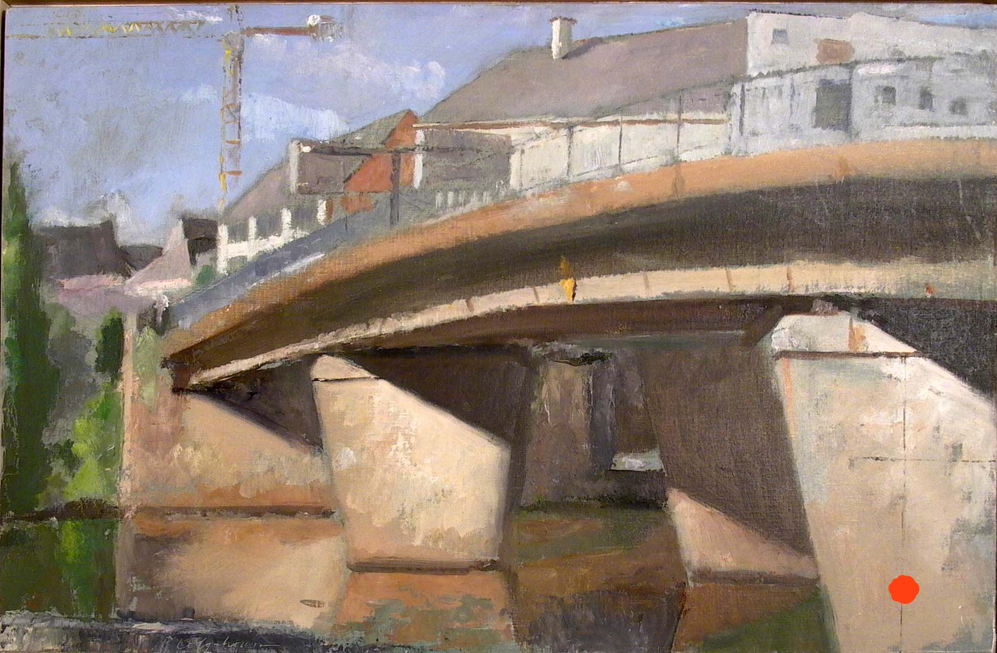 "Quai d'Auchel, 15"" x 23"", oil on muslin"