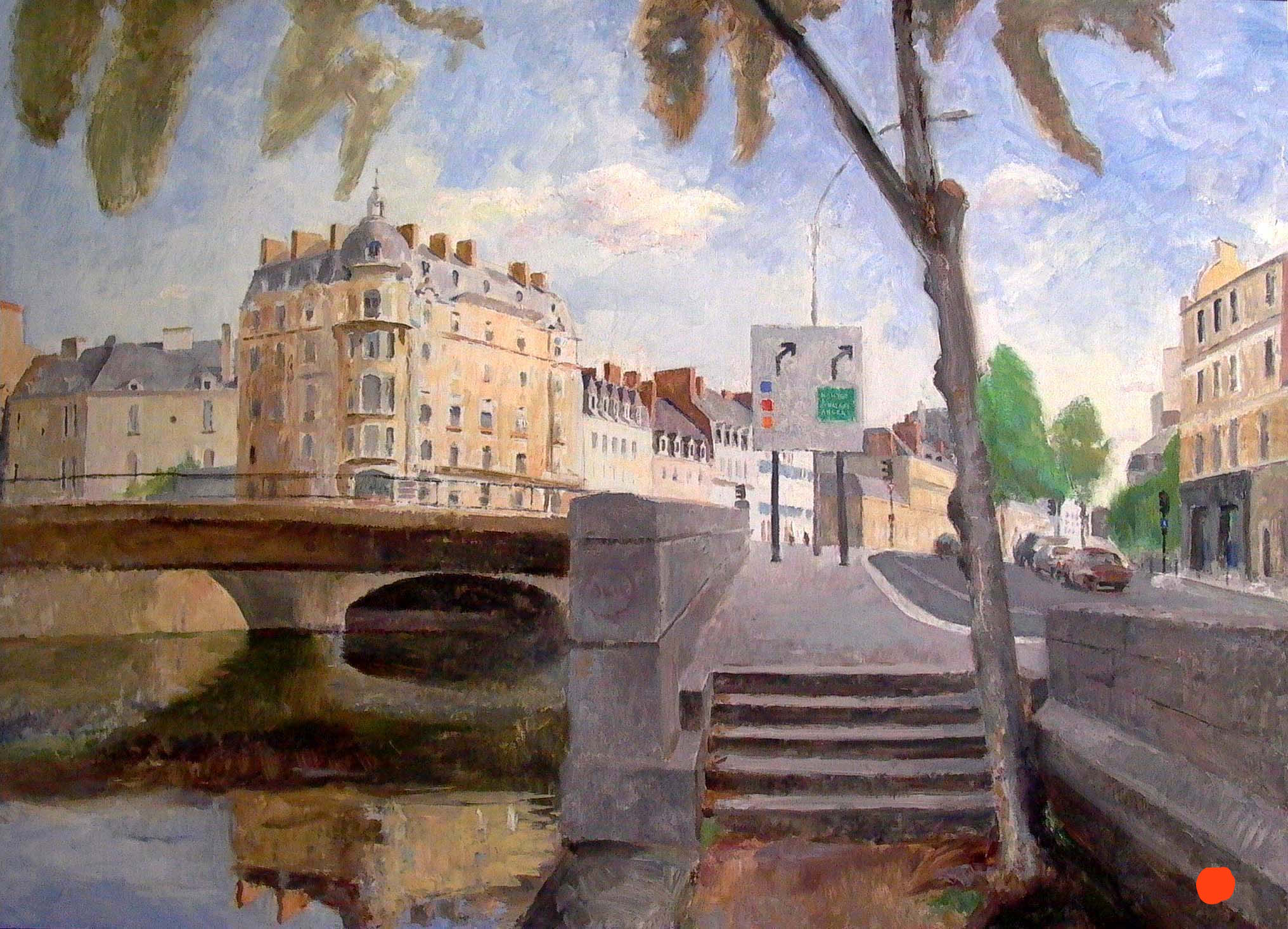 "Rennes, 32"" x 47"", oil on linen"