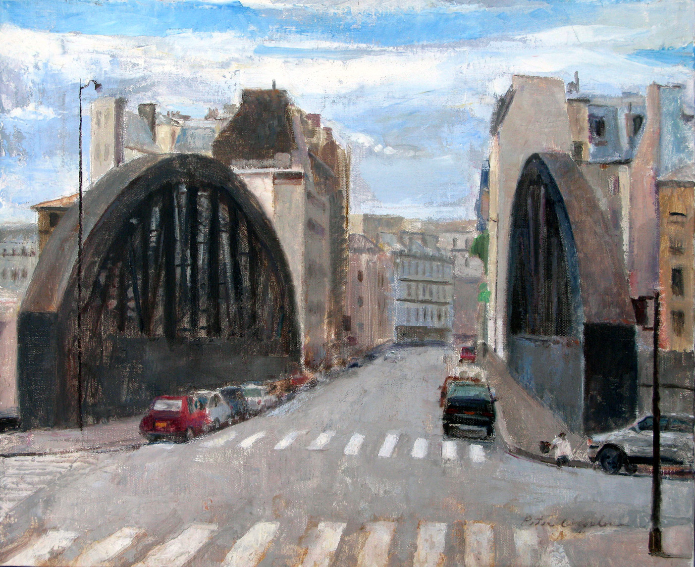 "Rue Aqueduc, 19"" x 24"", oil on linen"