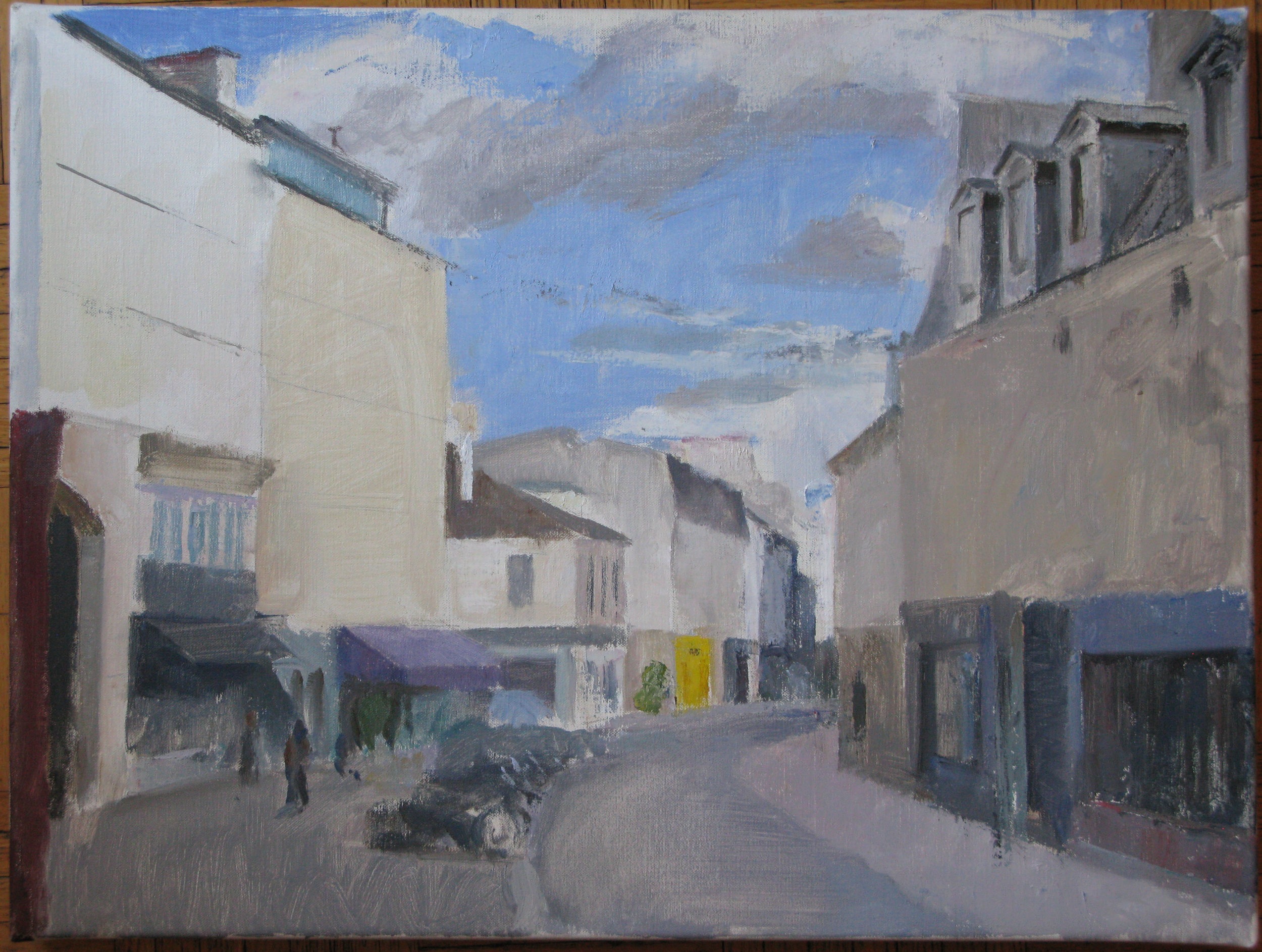 "Rue de Charonne, 18"" x 24"", oil on linen"