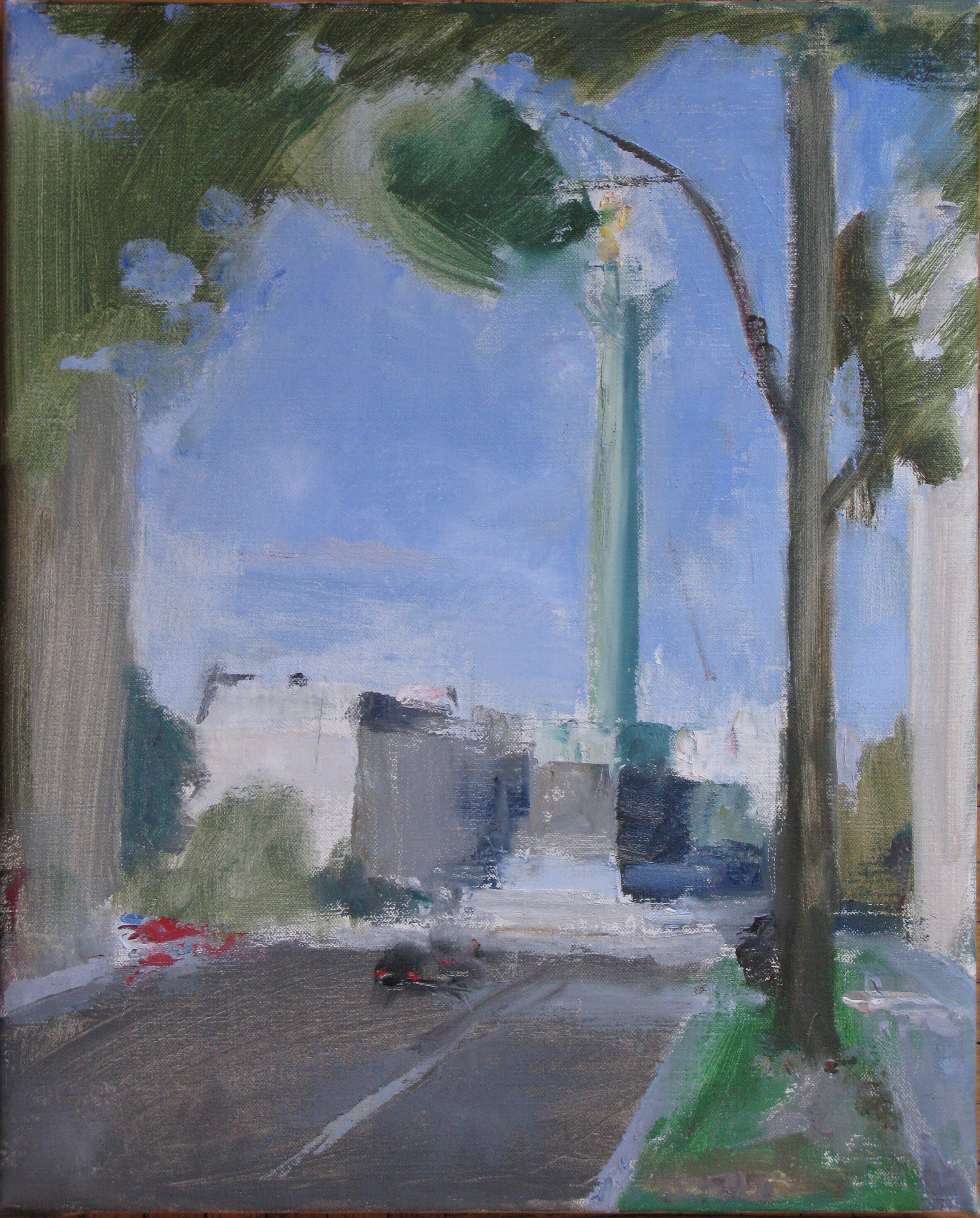 "Rue Lyon, 17"" x 14"", oil on linen"