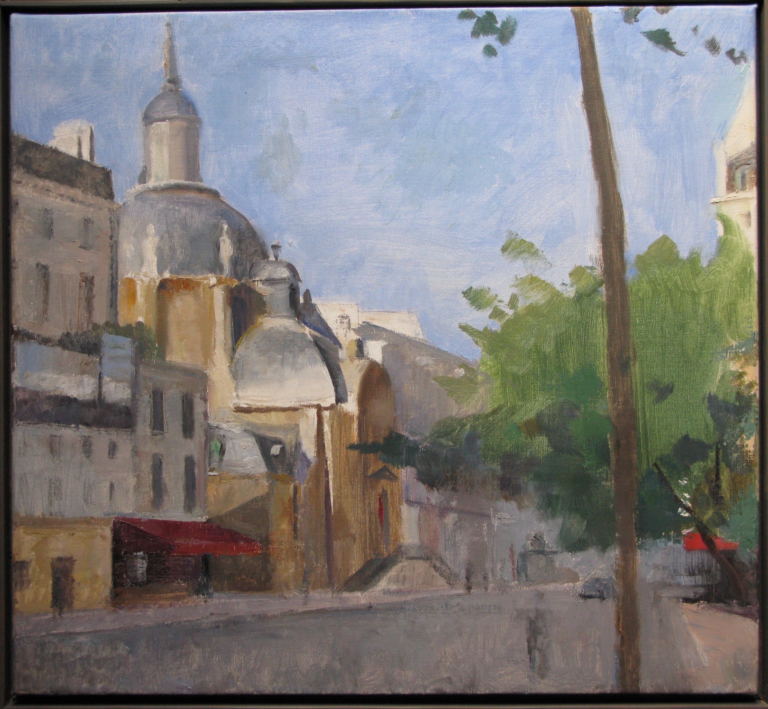 "Temple du Marais, 22"" x 24"", oil on linen"