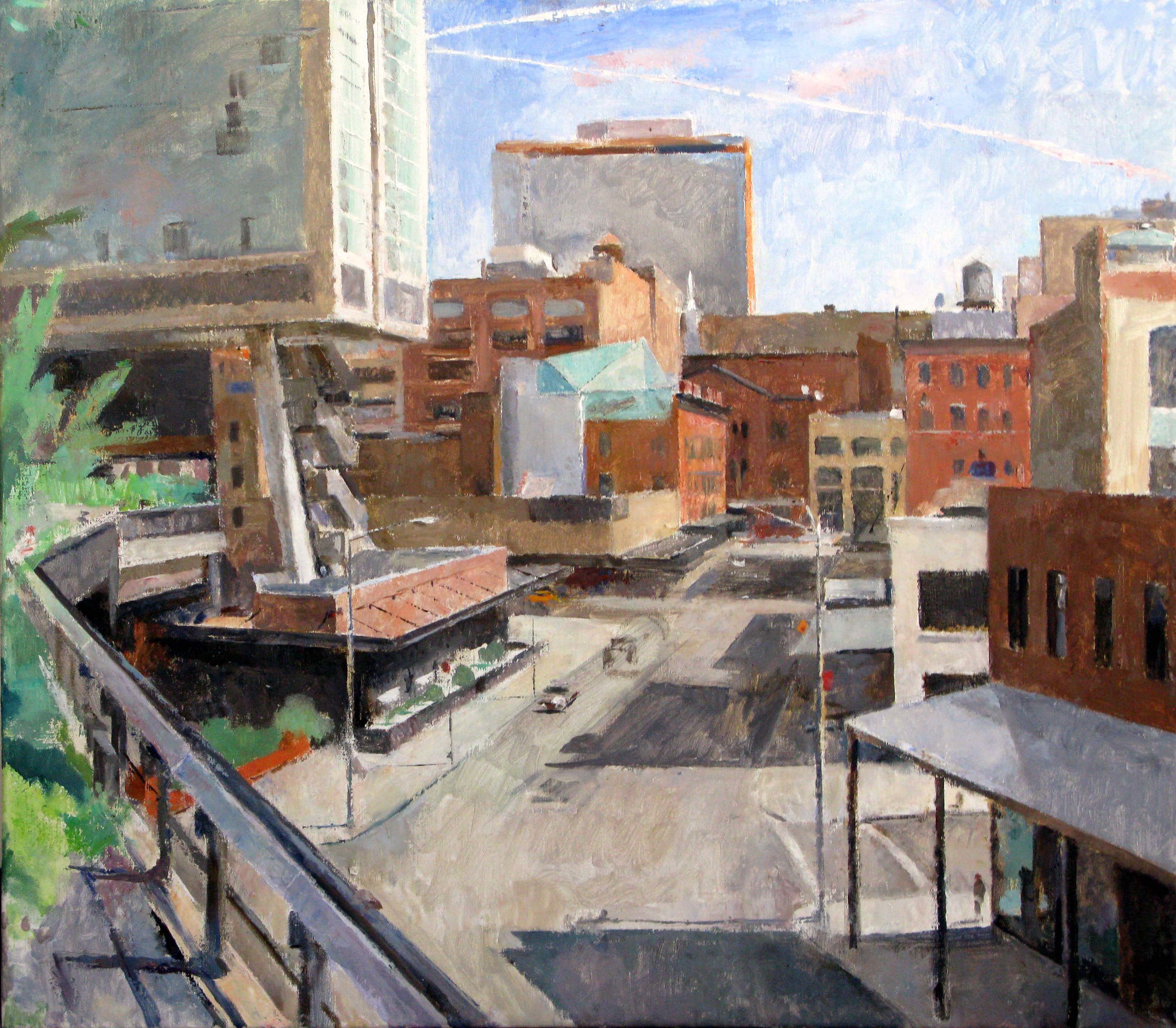 "Washington Street from the High Line, 31"" x 35"""