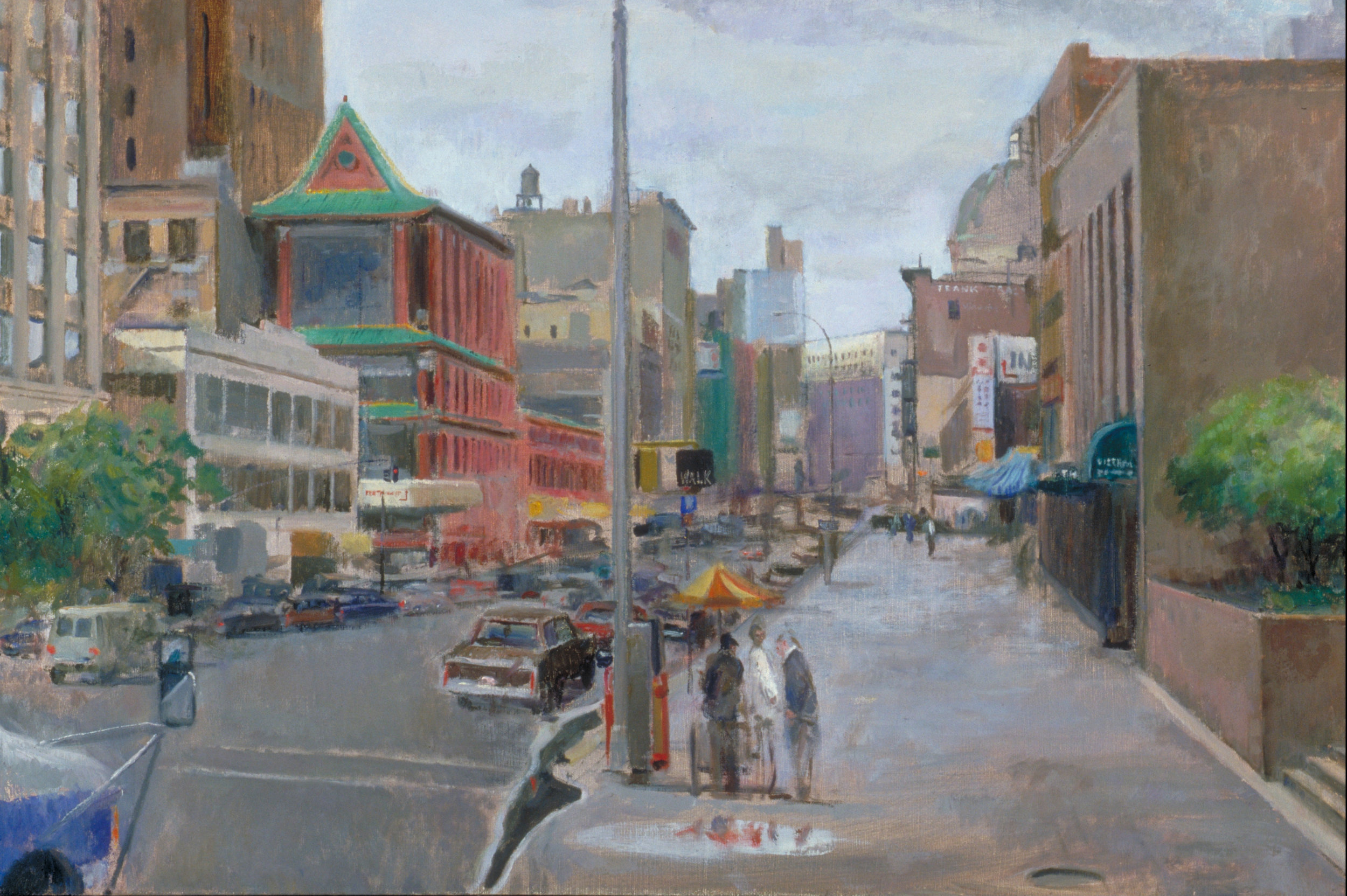 "China Town, 24"" x 36"", oil on linen"