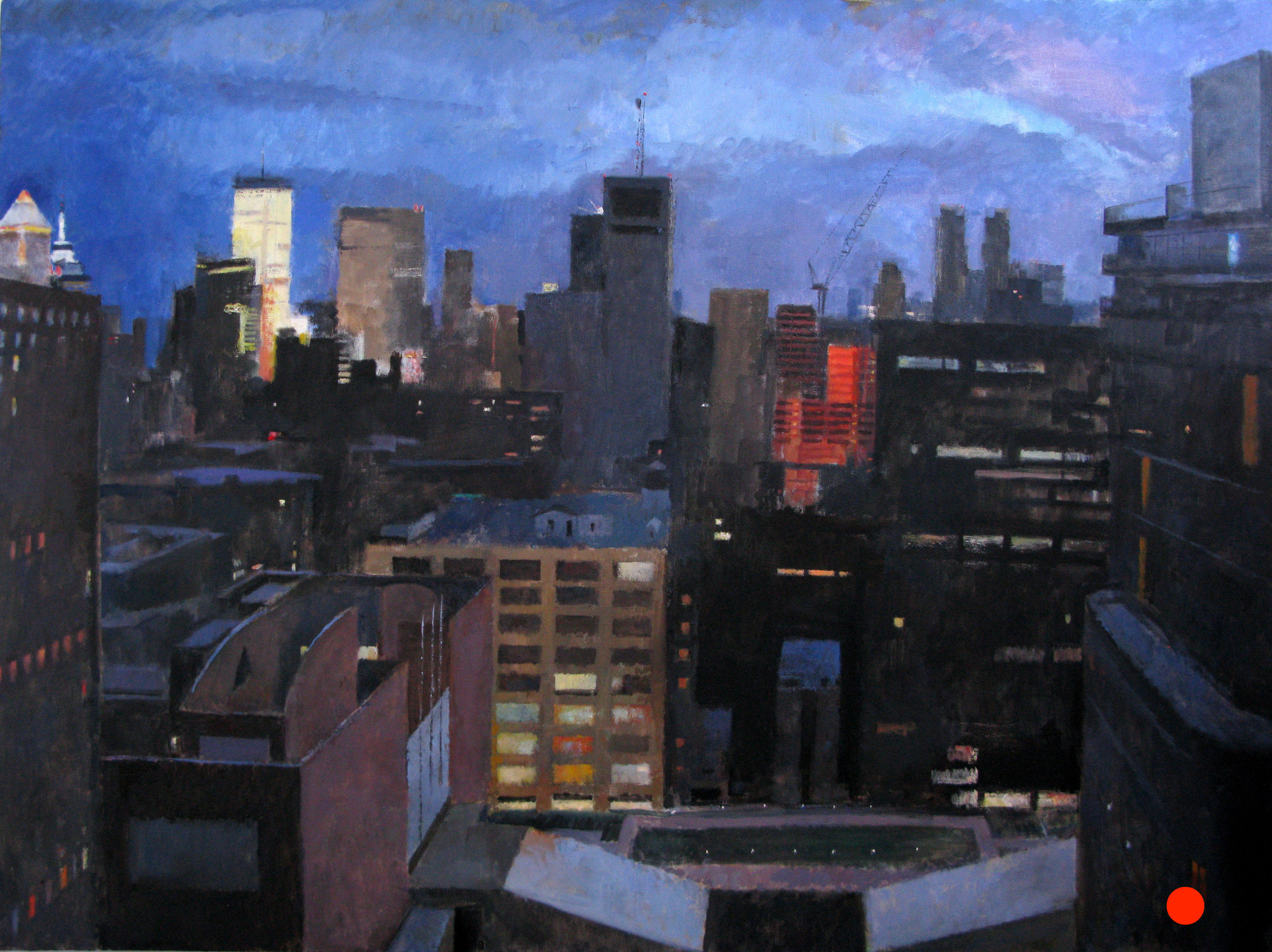 Deck, West 60th Street, 54 x 72 inches, oil on linen