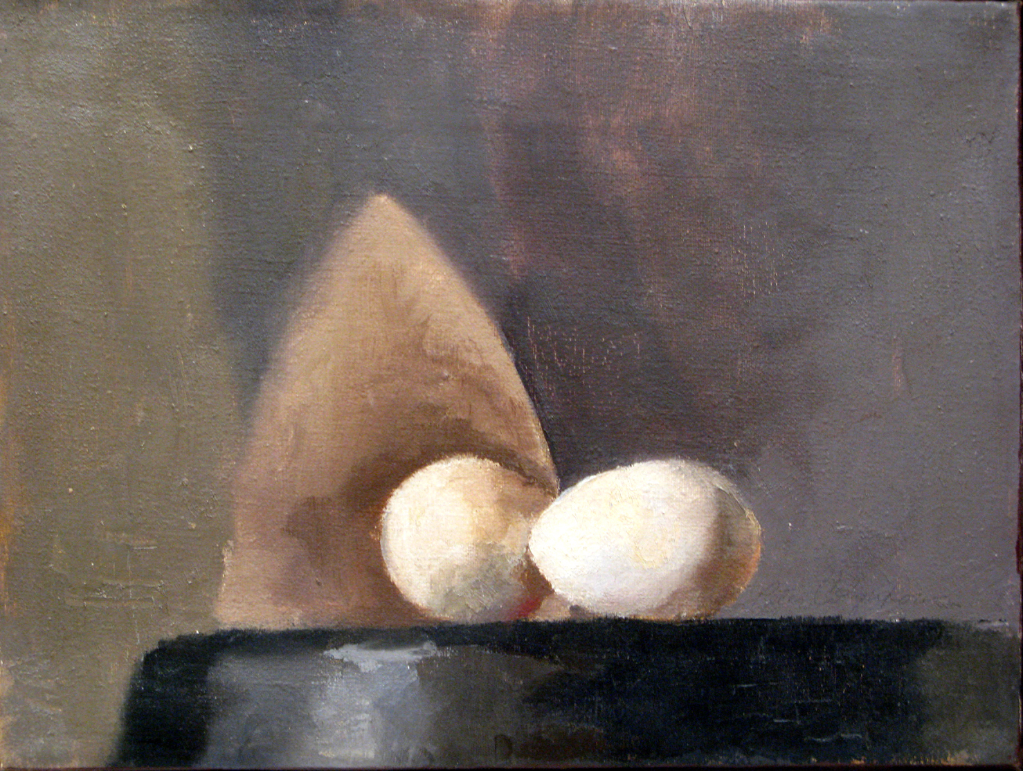 Eggs, 9 x 12 inches, oil on linen