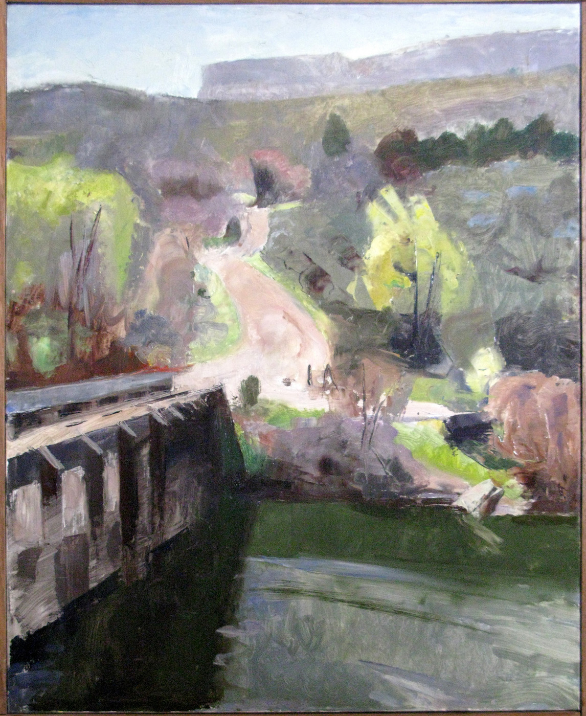 Pilar Bridge, 20 x 16 inches, oil on linen