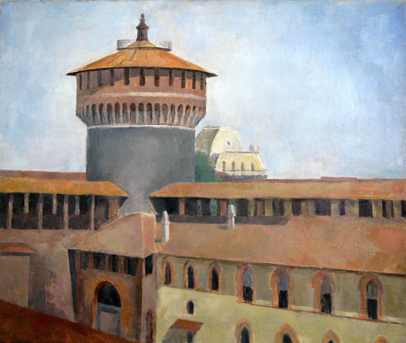 Castello Sforzesco, 23 x 27 inches, oil on linen