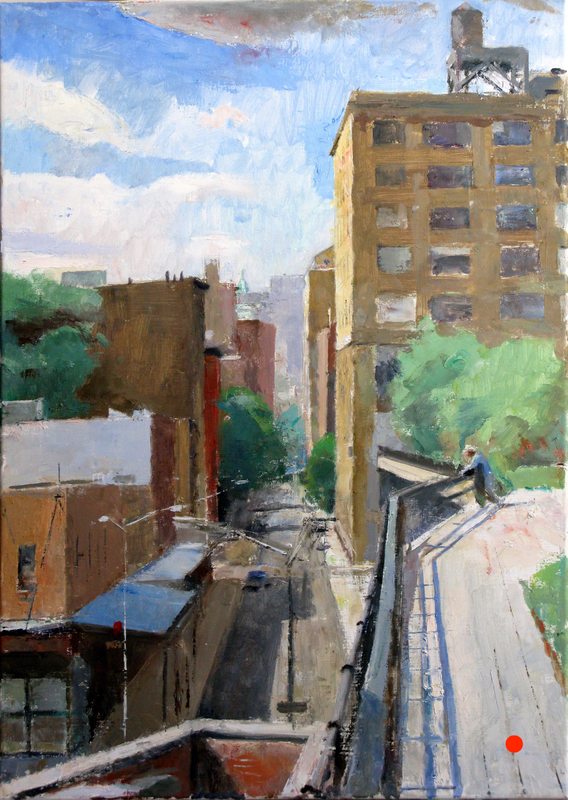 Washington Street,  South View, 27 x 19 inches, oil on linen