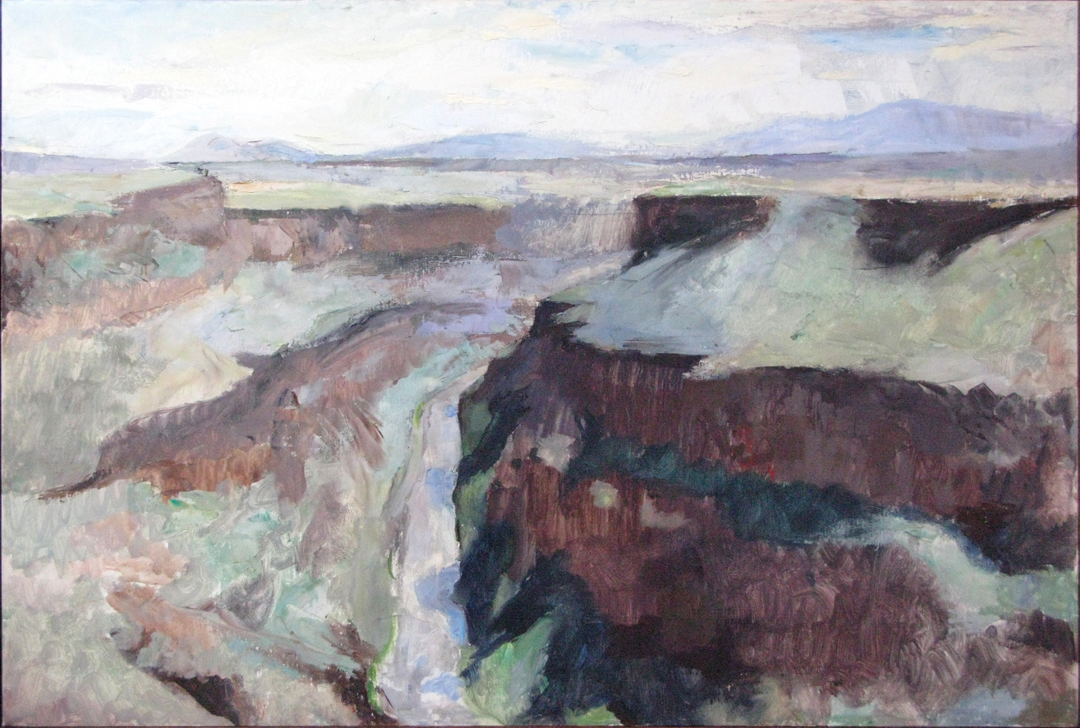 Rio Grand Gorge, NM, 24 x 36 inches, oil on linen