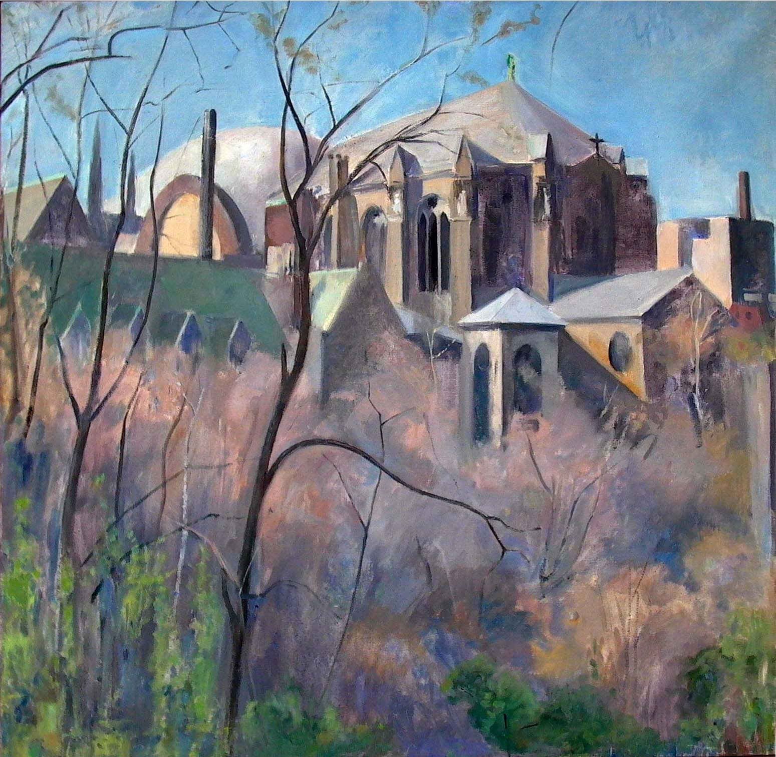 Saint John the Divine, oil on linen, 33 x 33 inches