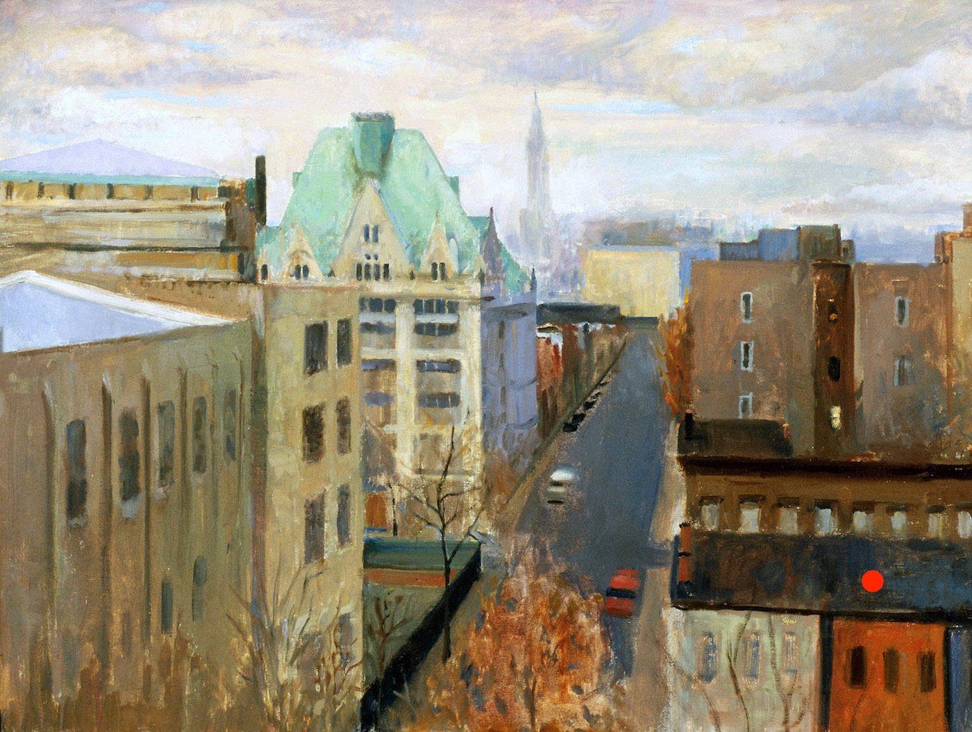 Vanderbilt Avenue, 24 x 32 inches, oil on linen.