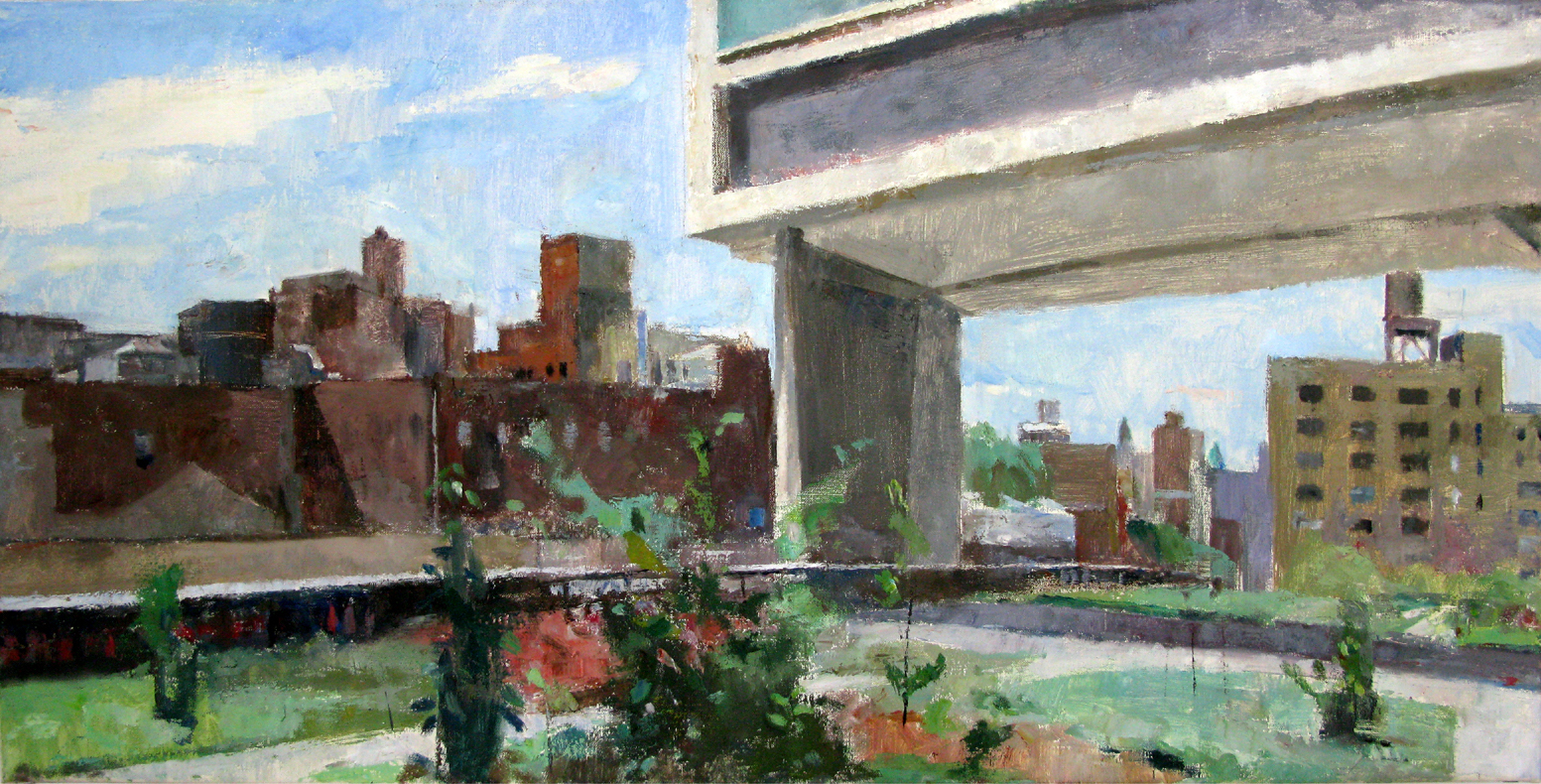 The High Line, Near the Standard, 17 x 34 inches, oil on linen.