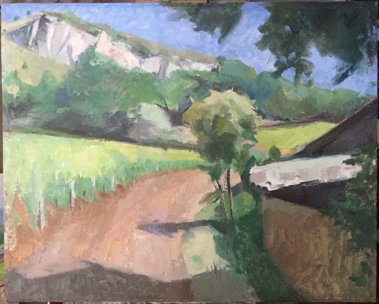 Solutré-Pouilly Vineyard, 24 x 30, oil on linen