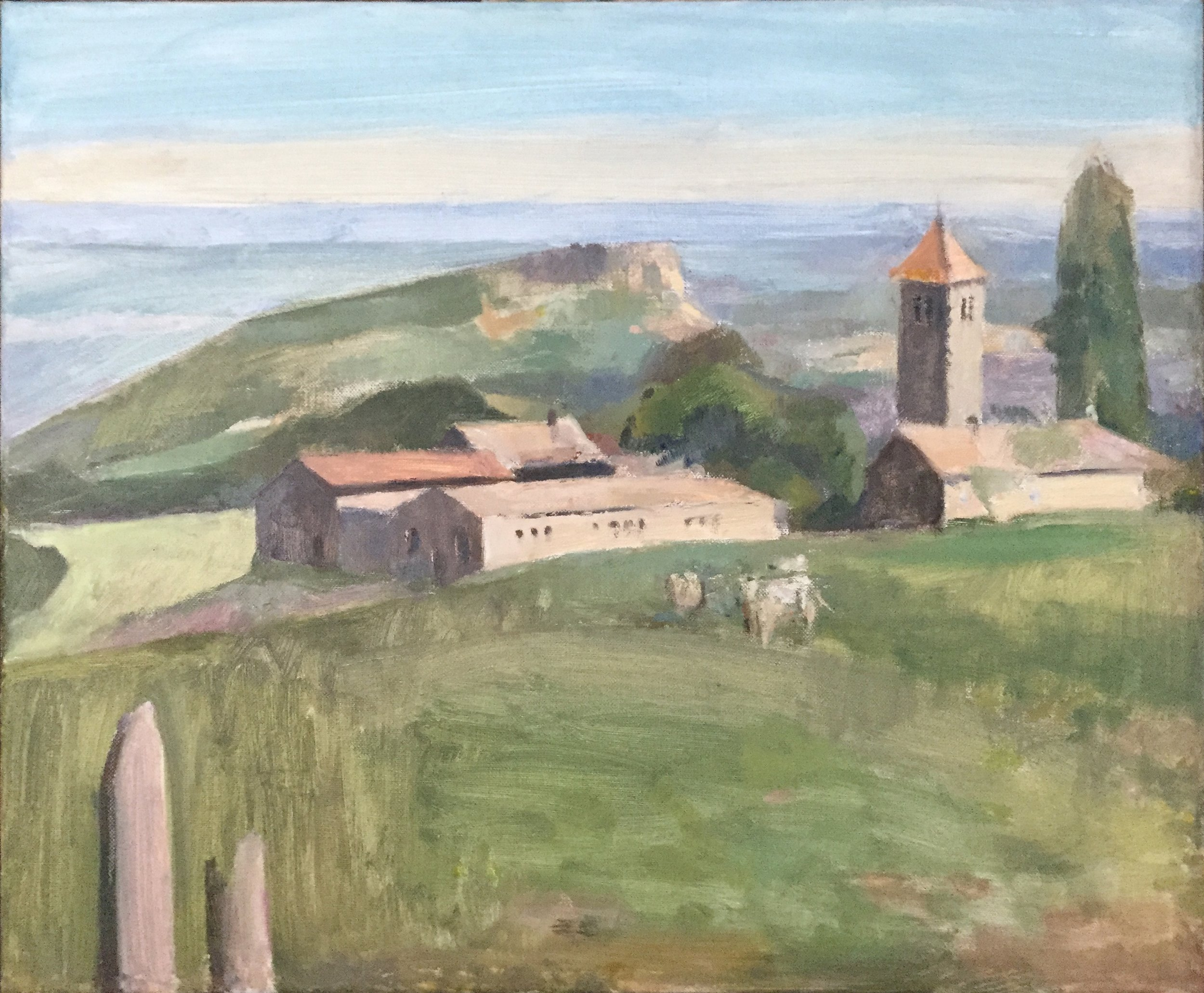 La Grange du Bois, Priory, 20 x 24 inches, oil on linen