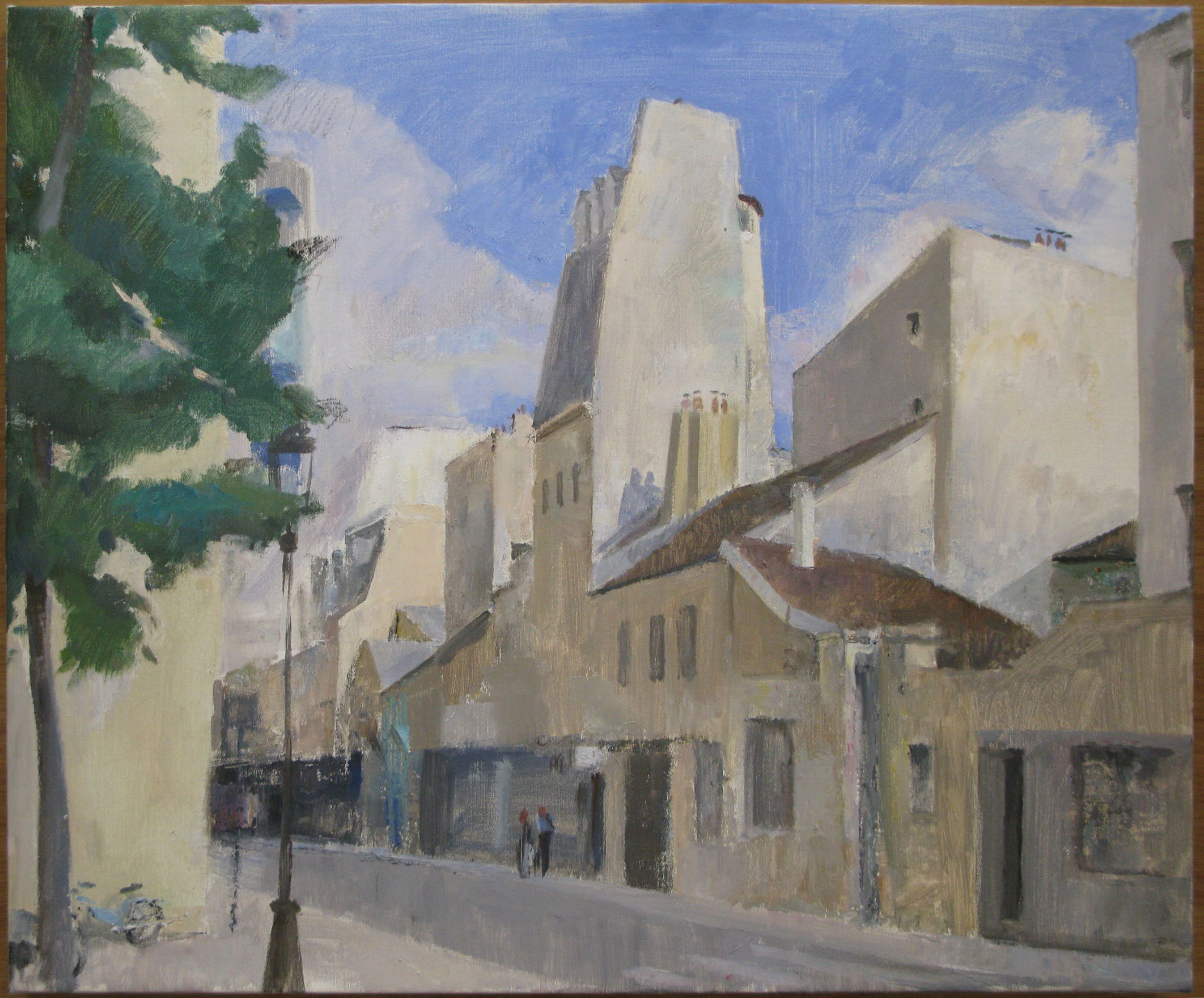 Rue de Charenton, 23 x 28 inches, oil on linen