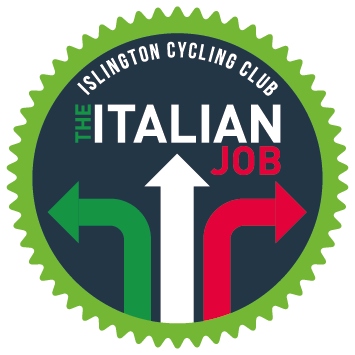 The Italian Job - Sunday, 16 Jun 2019For the third year running, Islington Cycling Club is proud to organise The Italian Job, a 107km ride, starting and finishing at Finsbury Park in North London. True to the name, the ride has an Italian theme - riders are encouraged to showcase their Italian spirit in some respect. A prize will be awarded for whoever shows the most Italian style.