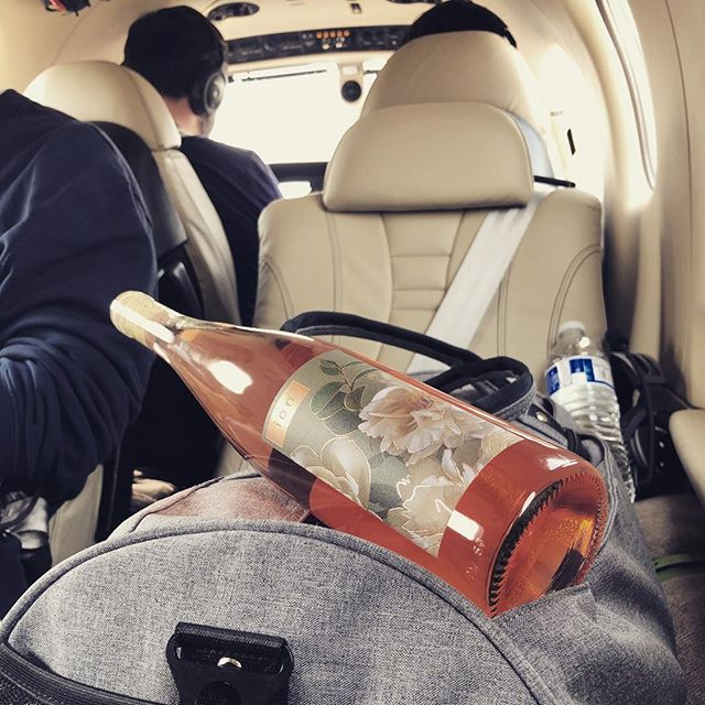 Who says wine doesn't fly free. If you're a restaurant or bar in CA and wanna taste our 2017 rosé, we'll be there ASAP. #rosé #roséwine #tbm910