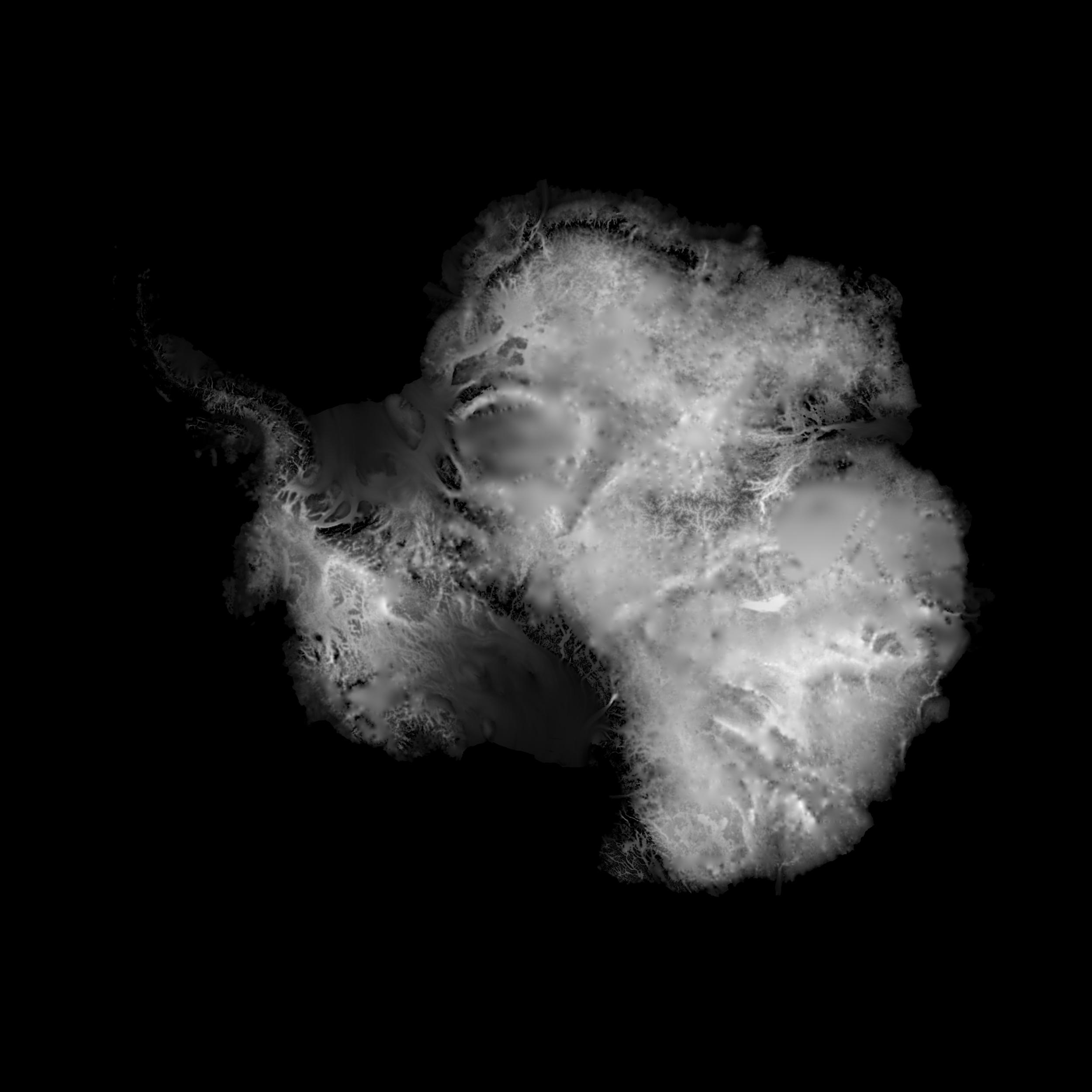 Antarctic ice thickness                                                BedMap2 + Somedudeonasofa