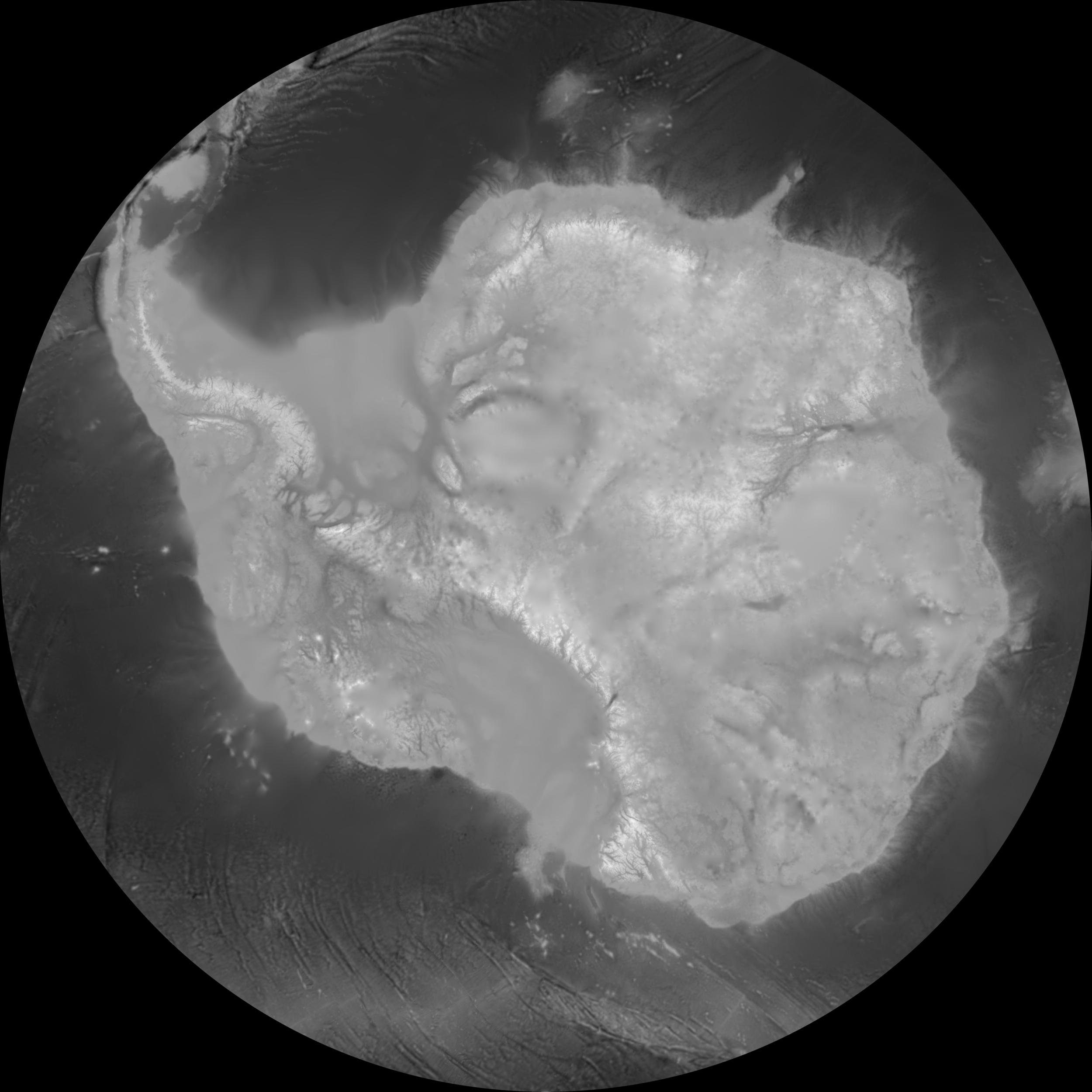 Topography + ice thickness                                            BedMap2 + Somedudeonasofa
