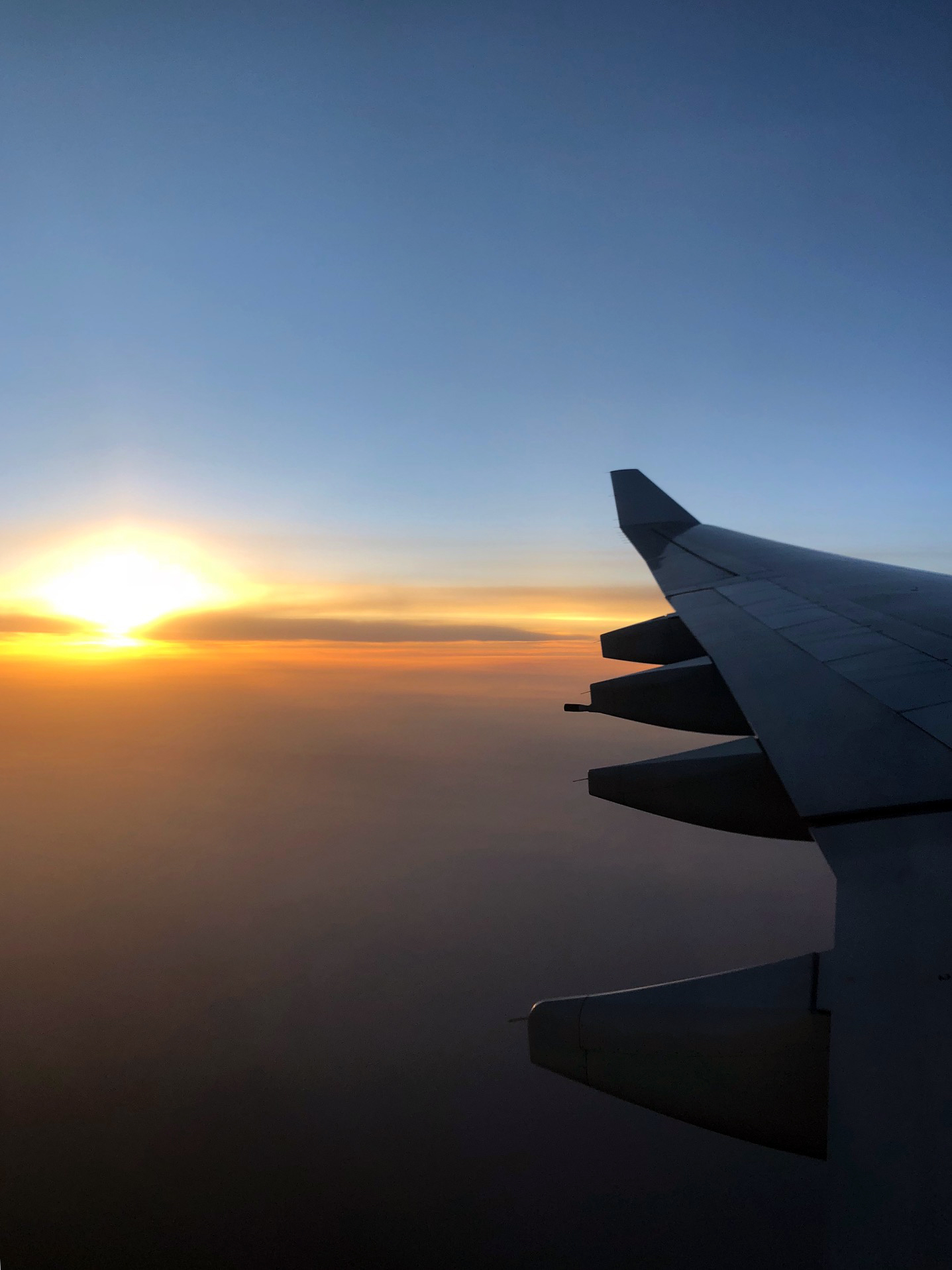 I try to avoid flying unless I have to. Air travel is a large source of greenhouse gas emissions. I calculated my carbon footprint here: CarbonFootprint.com