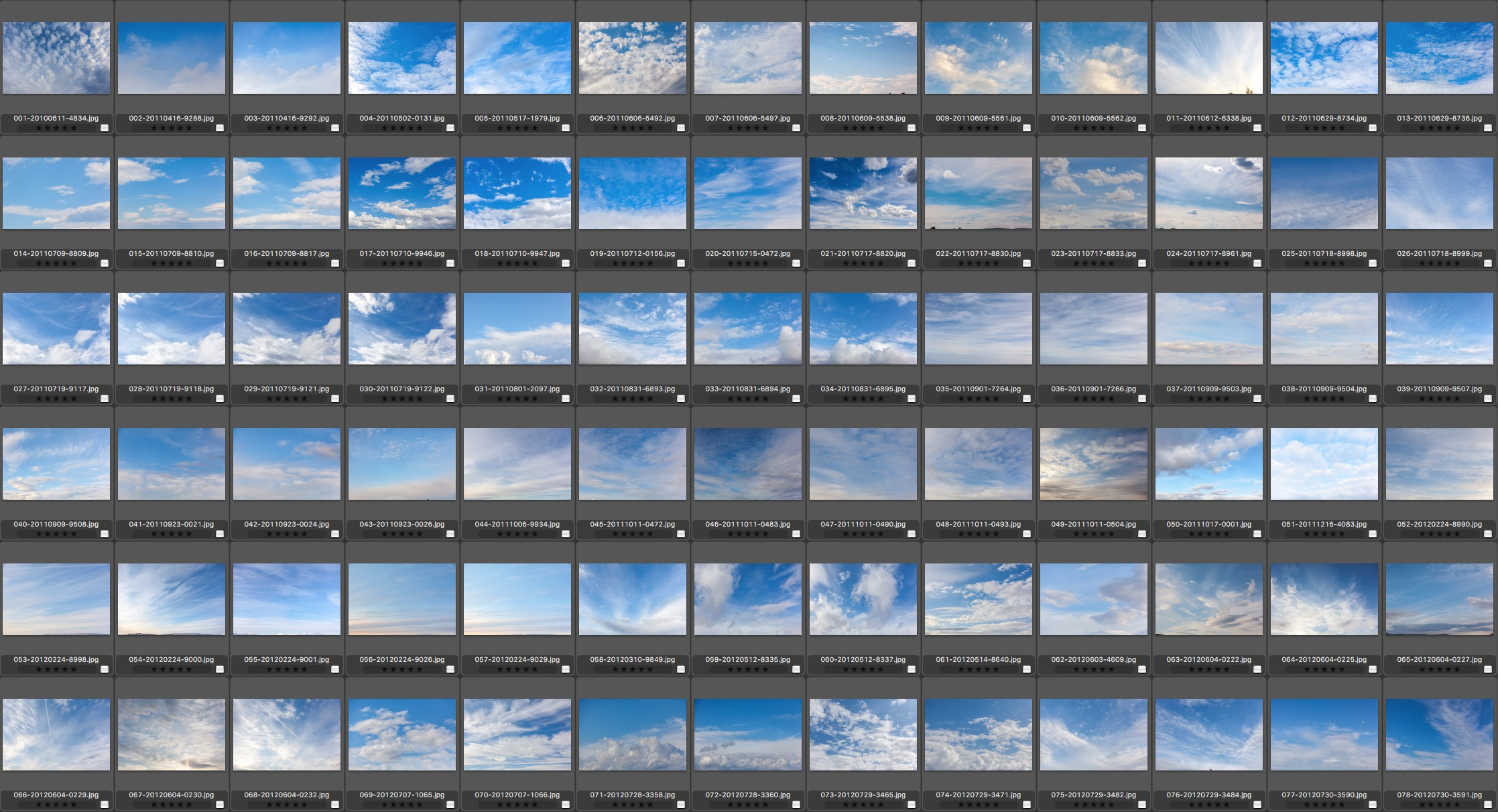 DAYTIME SKIES - HUNDREDS TO CHOOSE FROM!