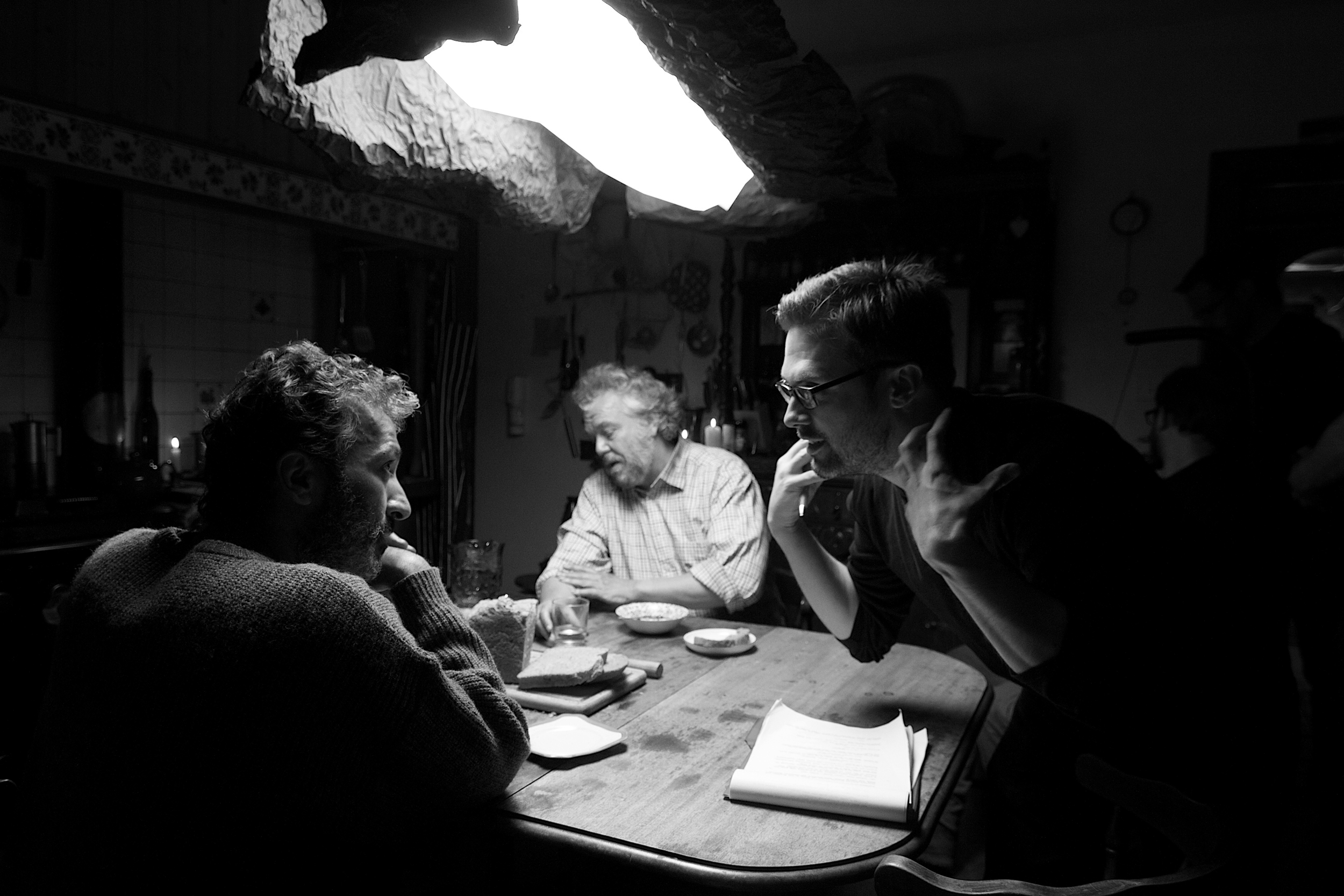 Ian Waugh directing Christopher Greco in As He Lay Falling