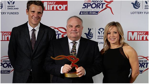The Daily Mirror's Pride of Sport Awards recognised Bengeo Tigers club official, Peter Malady with the Local Hero award last week at a ceremony in central London.