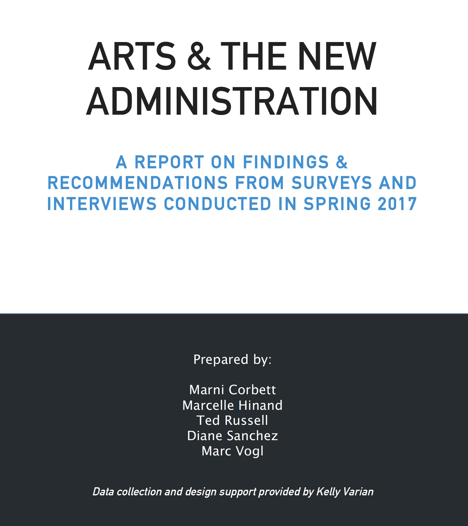 Arts and the New Admin Cover Image