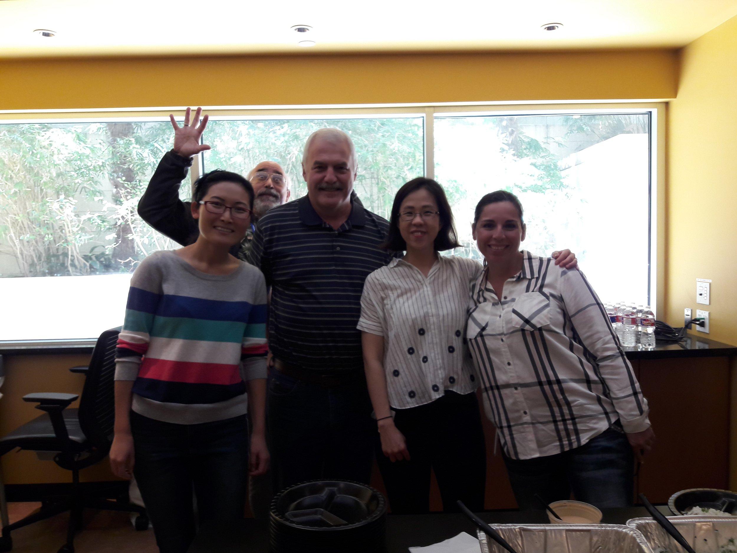 Yun Lab Appreciation Lunch in April 2018